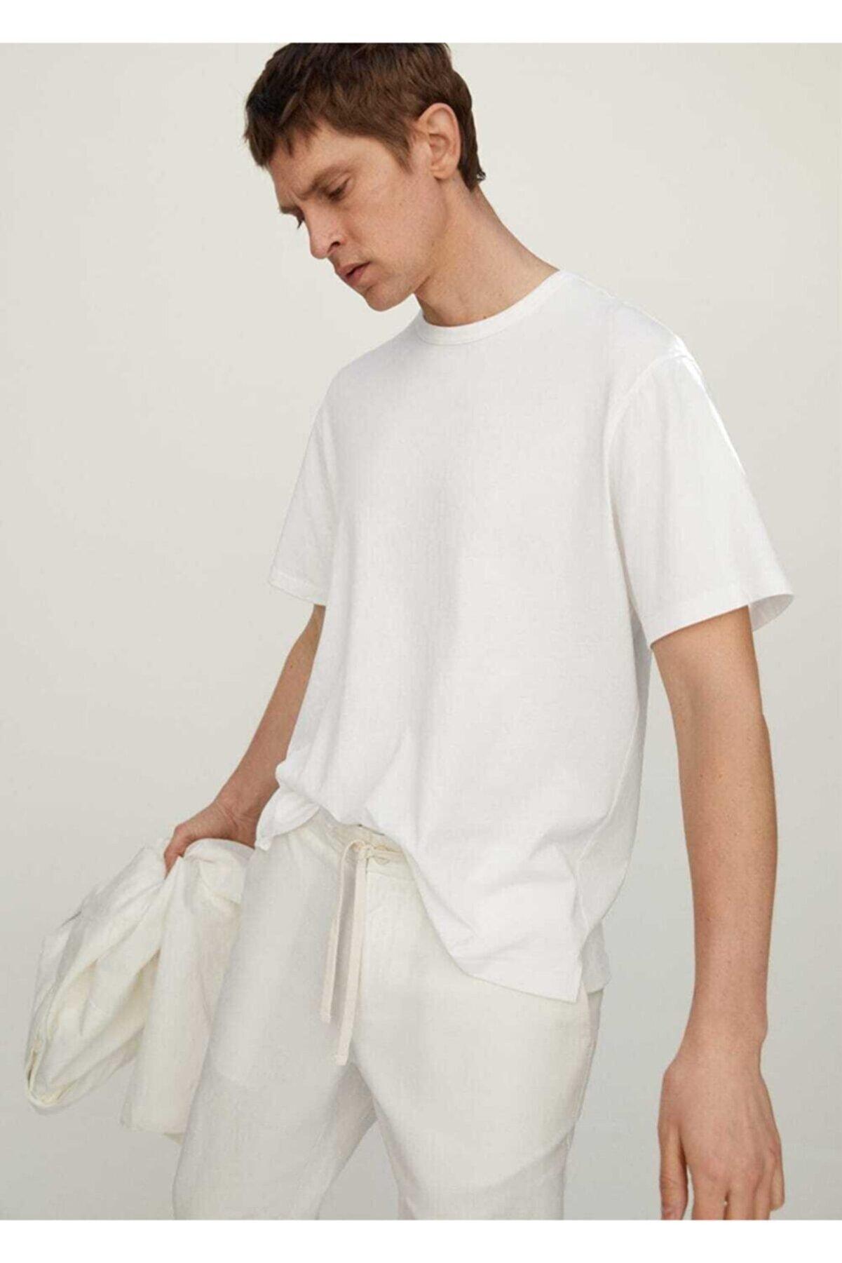 Mango Pamuklu Ince Tişört
