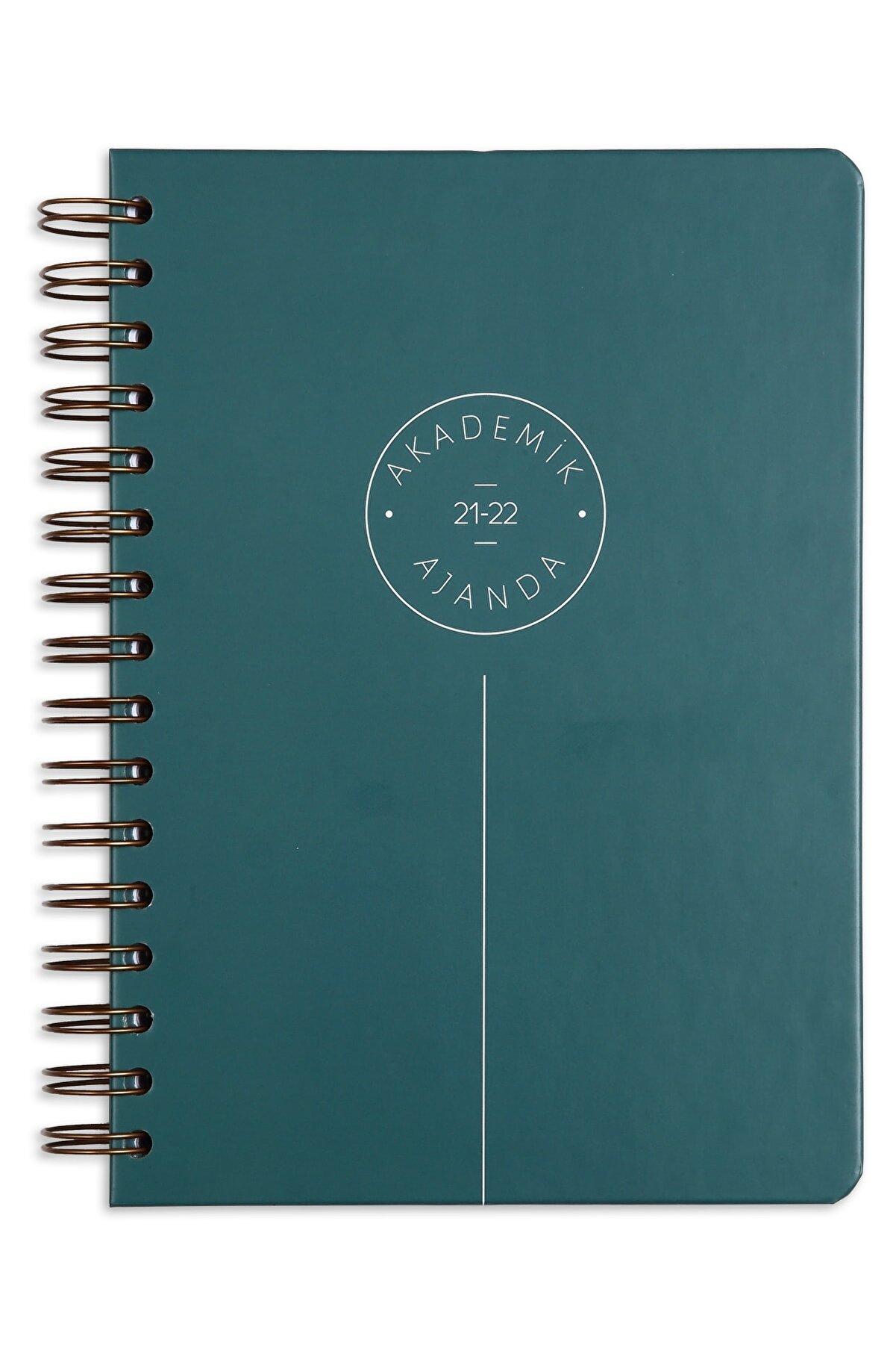 Matt Notebook 2021-2022 Yılı A5 Akademik Ajanda 16 Aylık Yeşil