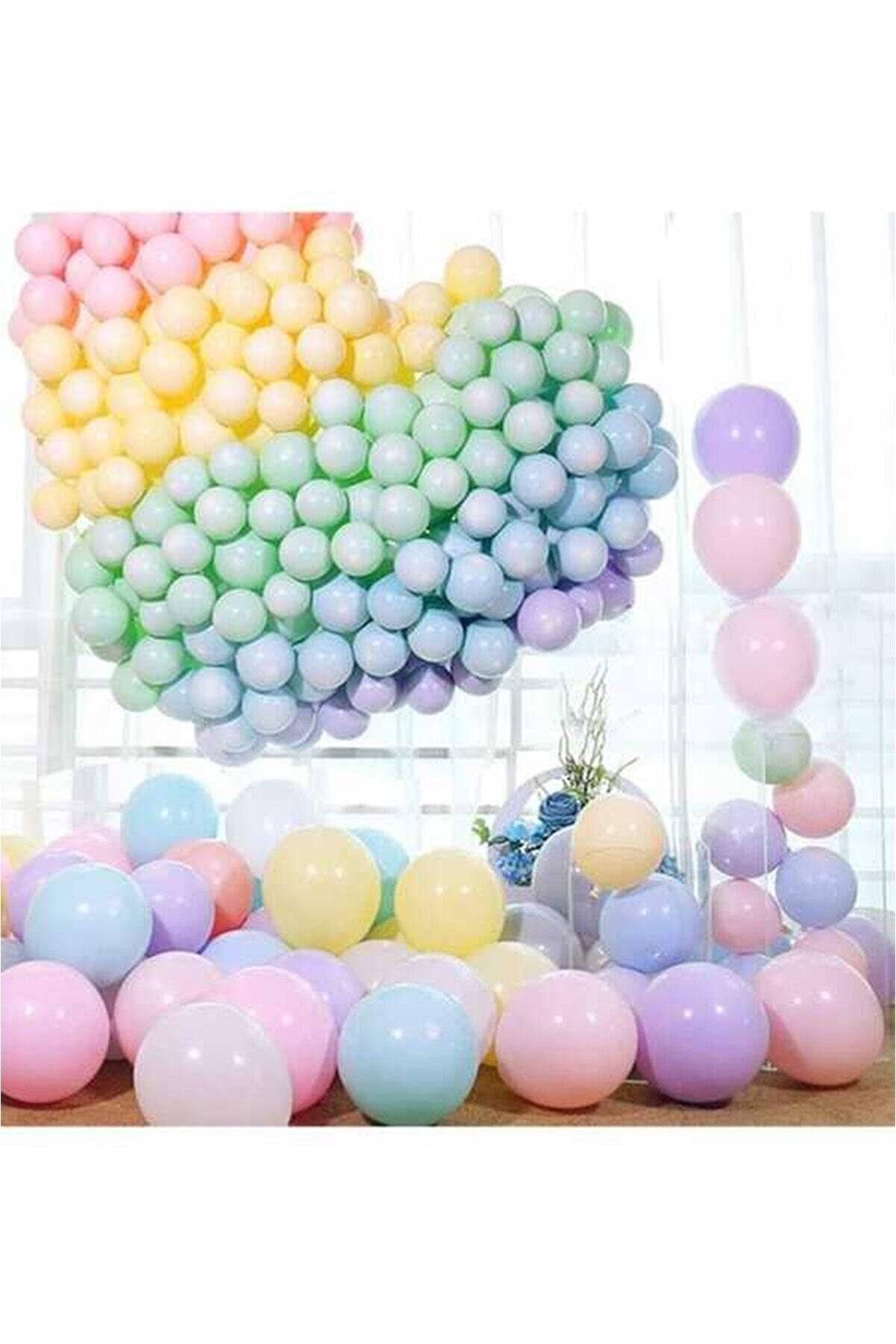 Aşkın Parti Evi Makaron Balon Seti 50 Balon Karışık