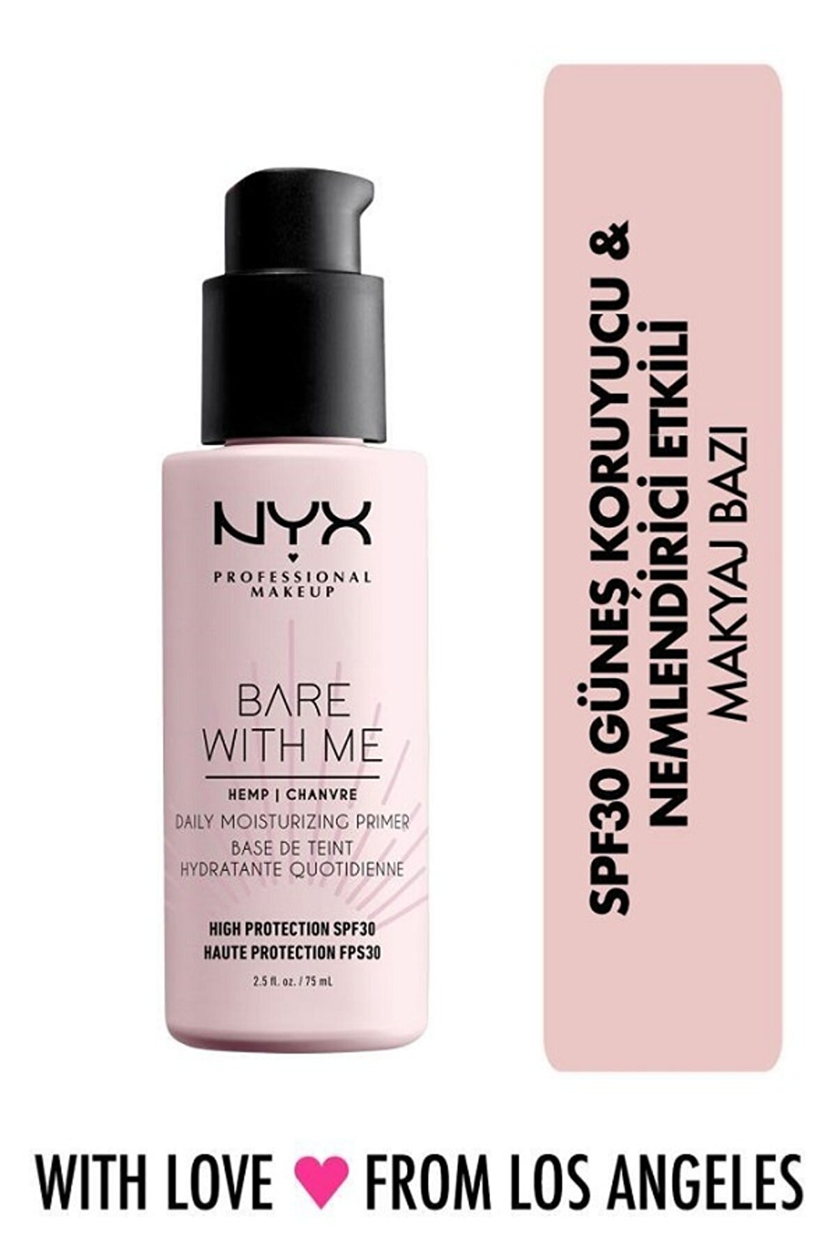 NYX Professional Makeup Bare With Me Cannabis Sativa Seed Oil Spf30 Primer 800897202118