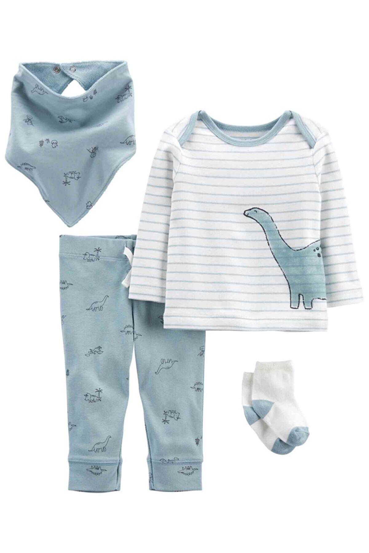 Carter's Layette Erkek Bebek Hastane Çıkış Setli - 4pk