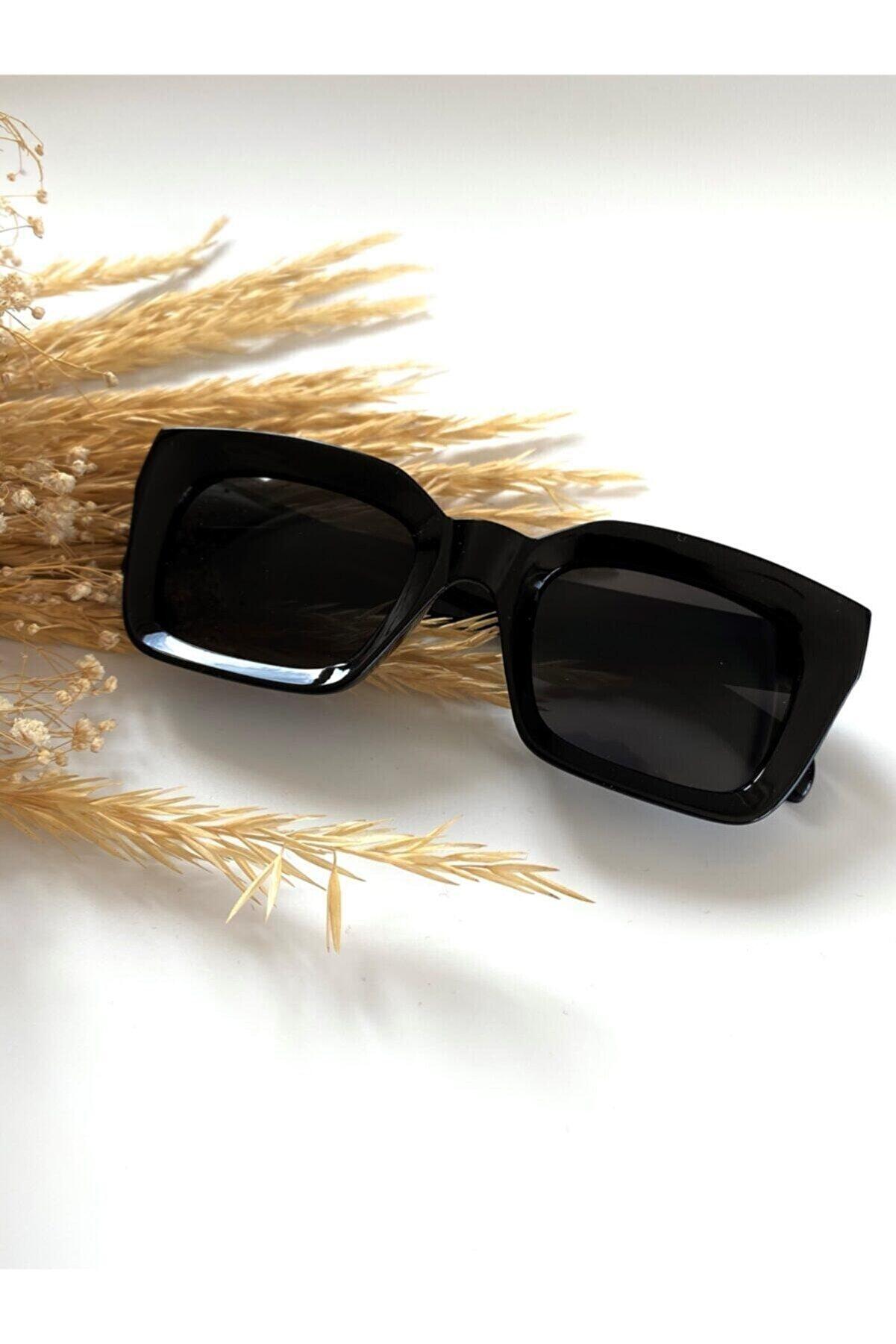 Curly Accessories Kadın Siyah Diamond Black Elmas Kesim  Güneş Gözlüğü