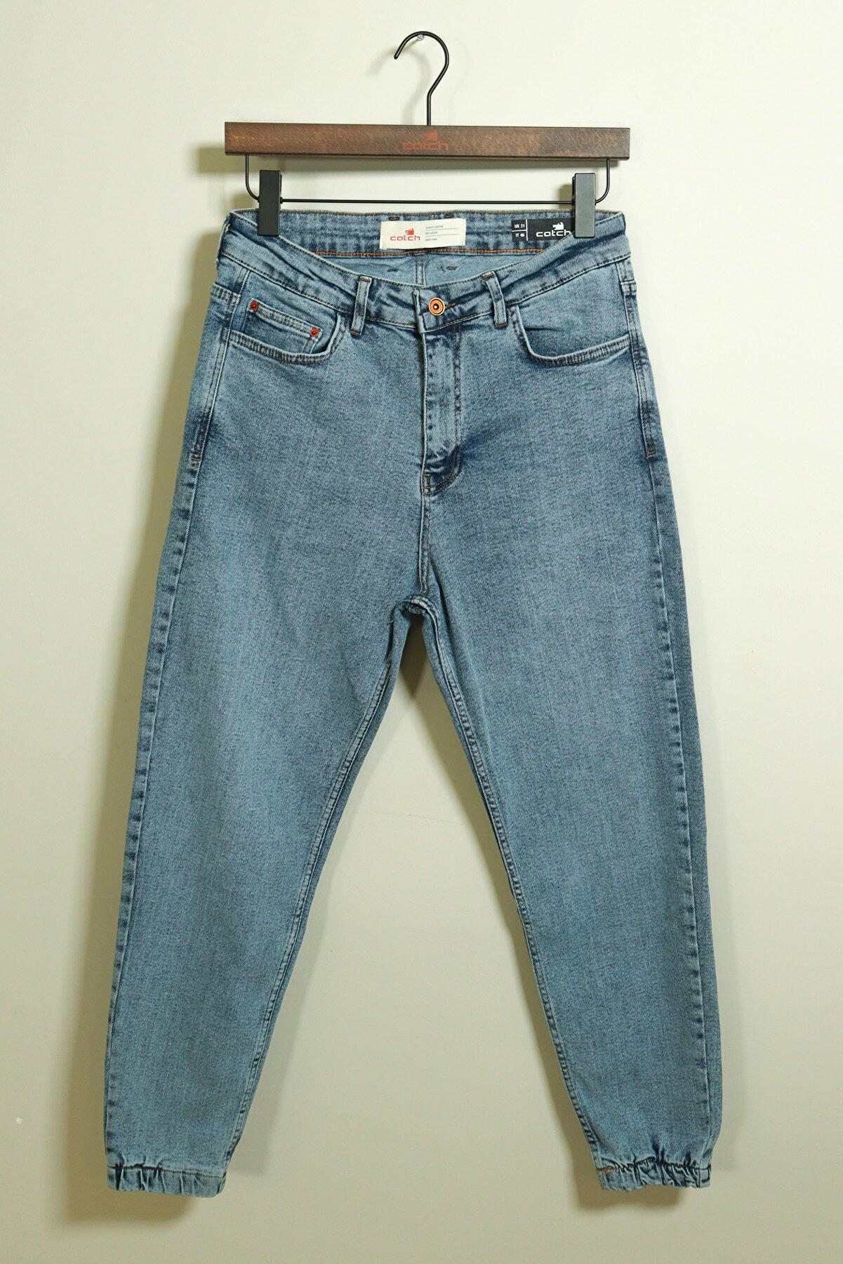 Catch Paçası Lastikli Bol Kalıp Mavi Jean 3926-g2