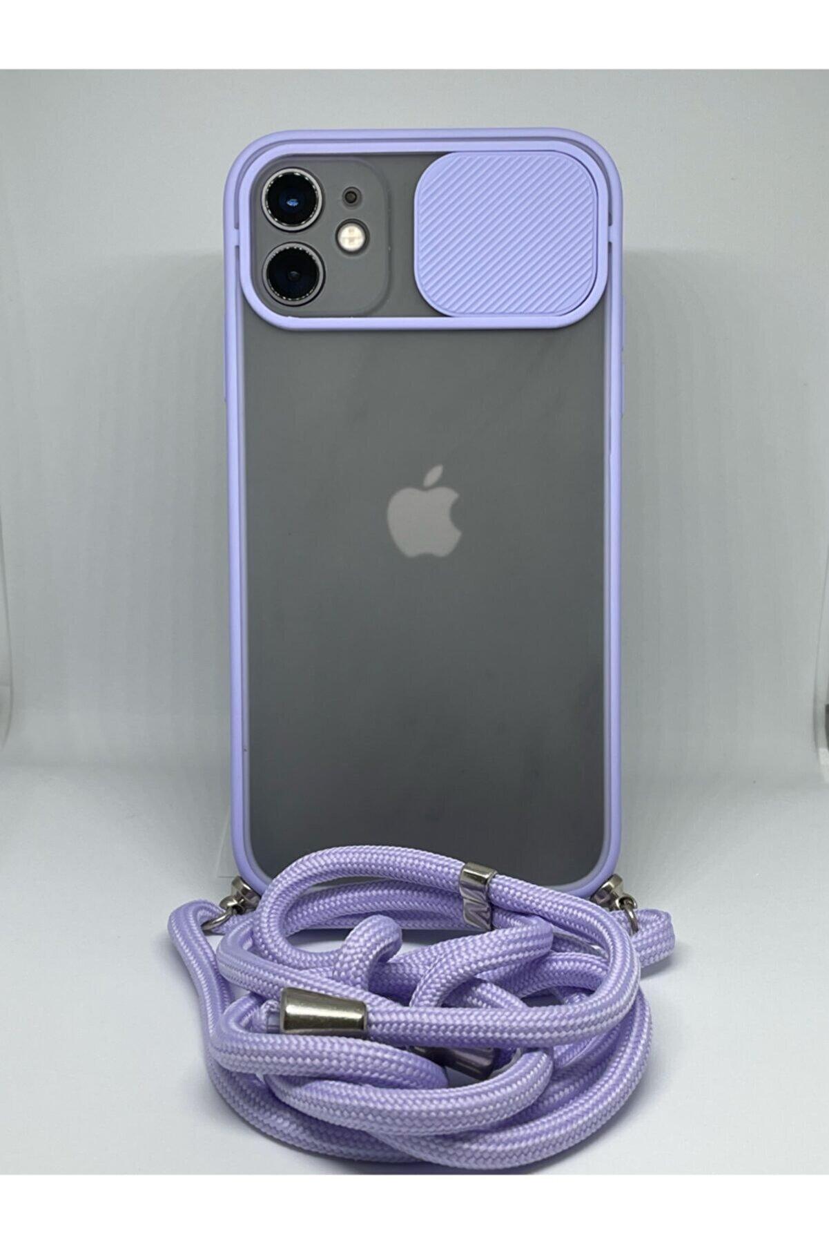 GGM GİYİM & AKSESUAR Iphone 11 Kamera Korumalı Ipli Askılı Kılıf