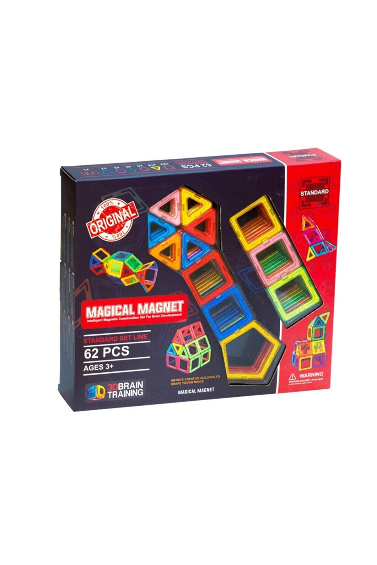 Magical Magnet ,mıknatıslı, Manyetik 3 Boyutlu , Yapı Ve Tasarım Lego Eğitim Seti,62 Parça
