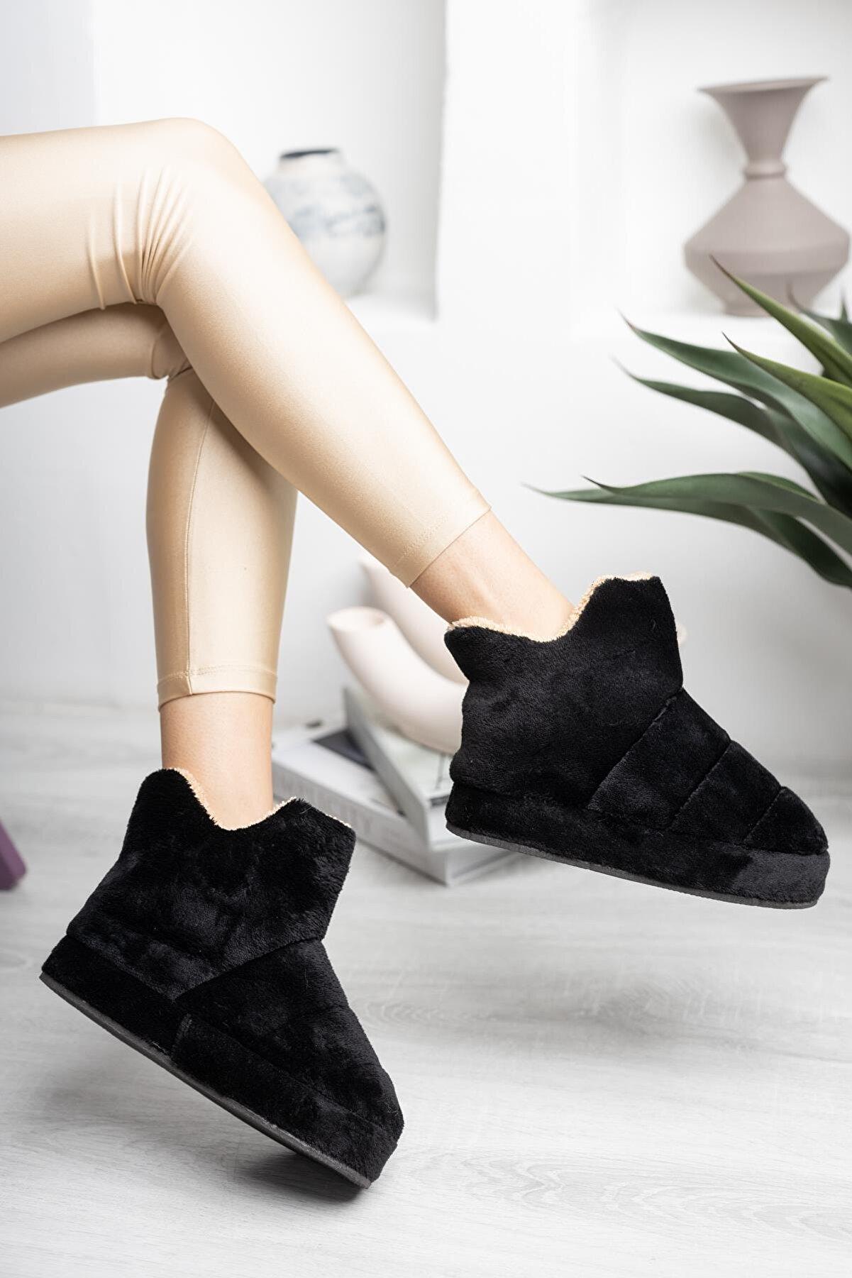 StWenn Kadın Panduf Ev Botu Ev Ayakkabısı Kalın Hafif Taban