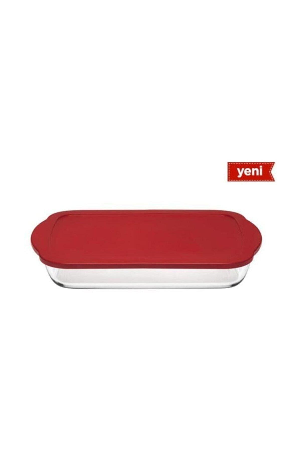 Paşabahçe Borcam Kırmızı Kapaklı Dikdörtgen Saklama Kabı 59124k