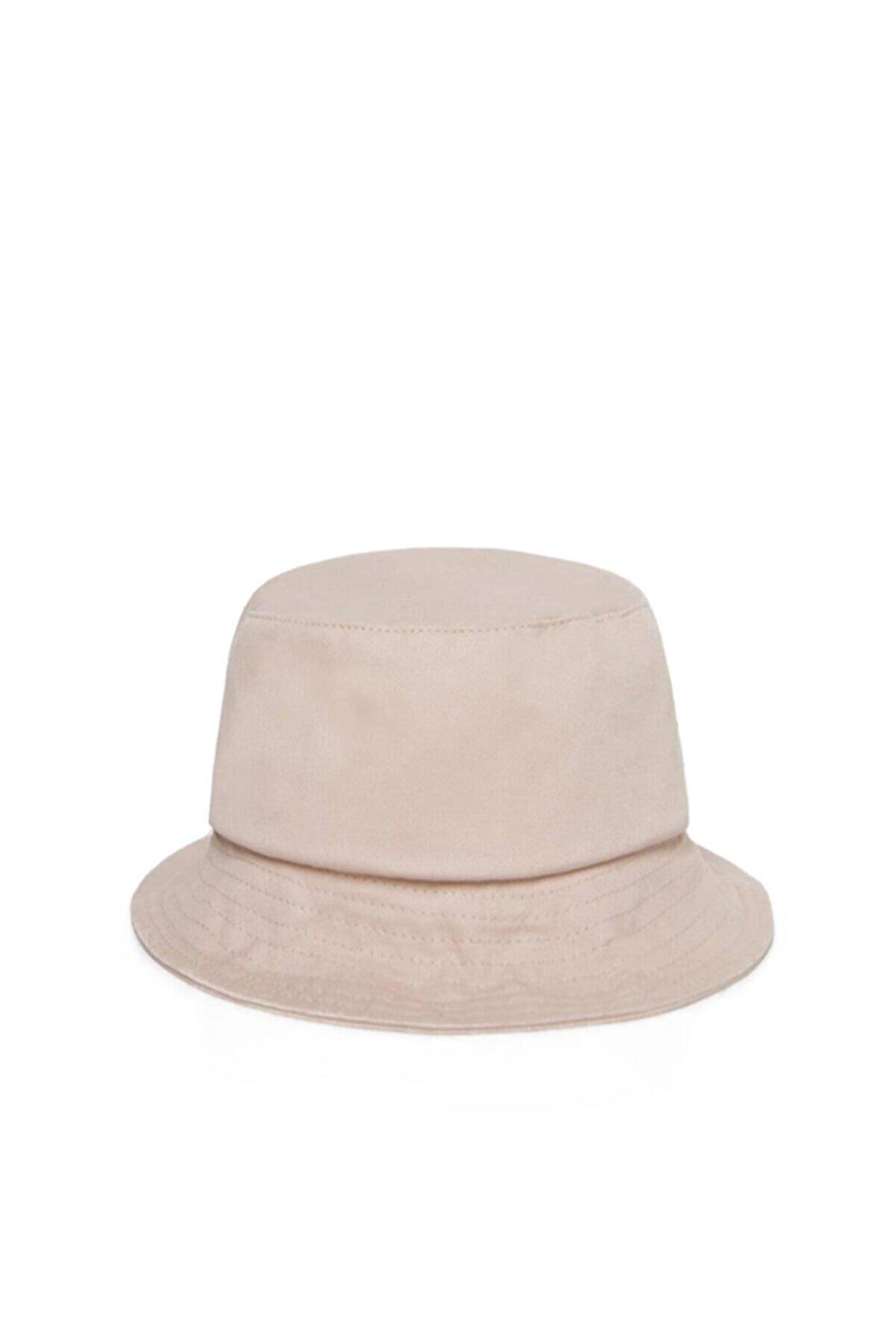 Güce Unisex Krem Rengi Balıkçı Bucket Şapka Gc013911