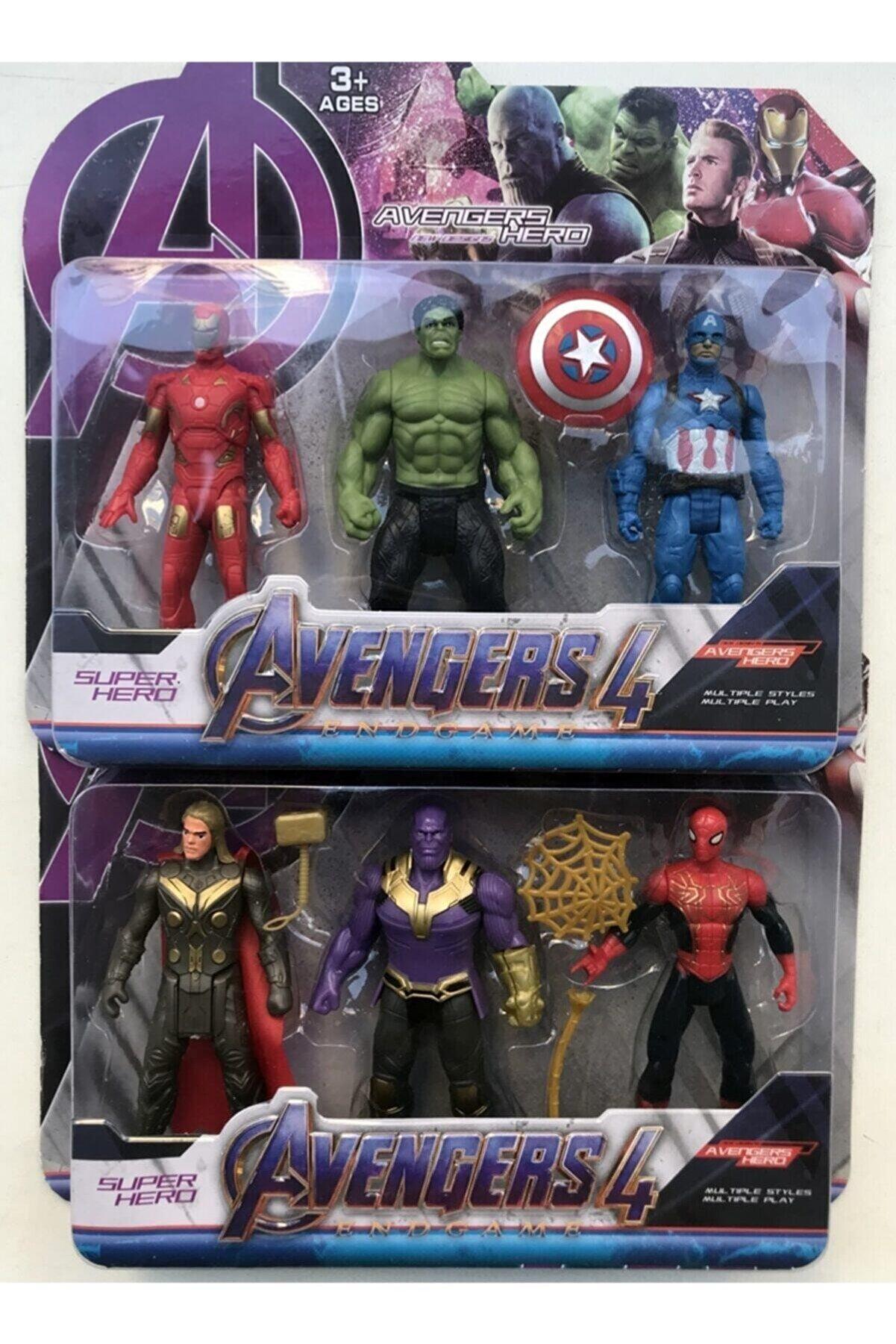 Oyuncakcii Avengers Süper Kahraman Aksesuarlı Figürler 6 lı