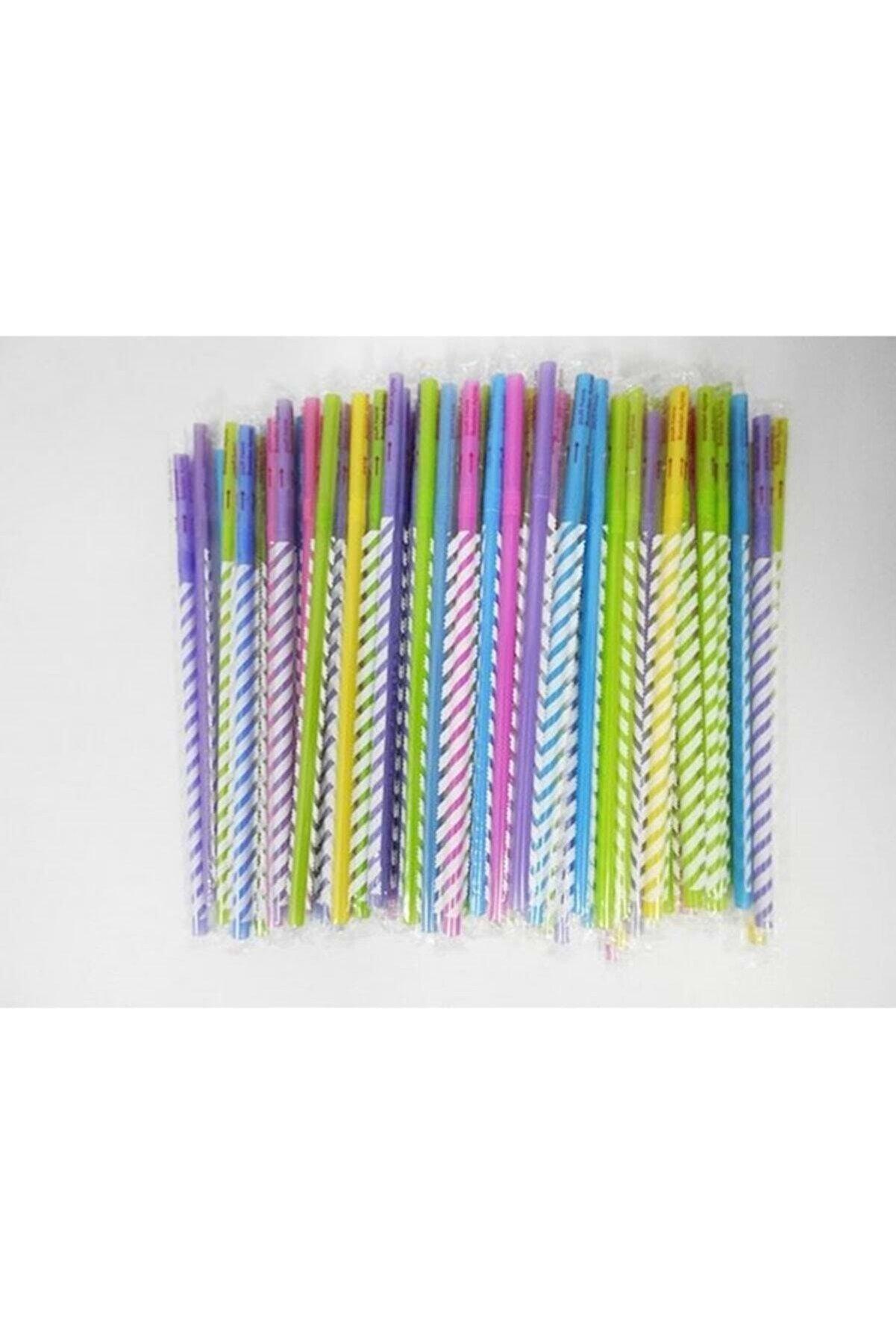 Pipetsan Renkli Körüklü Jelatinli Frozen Pipet 100 Lü Paket