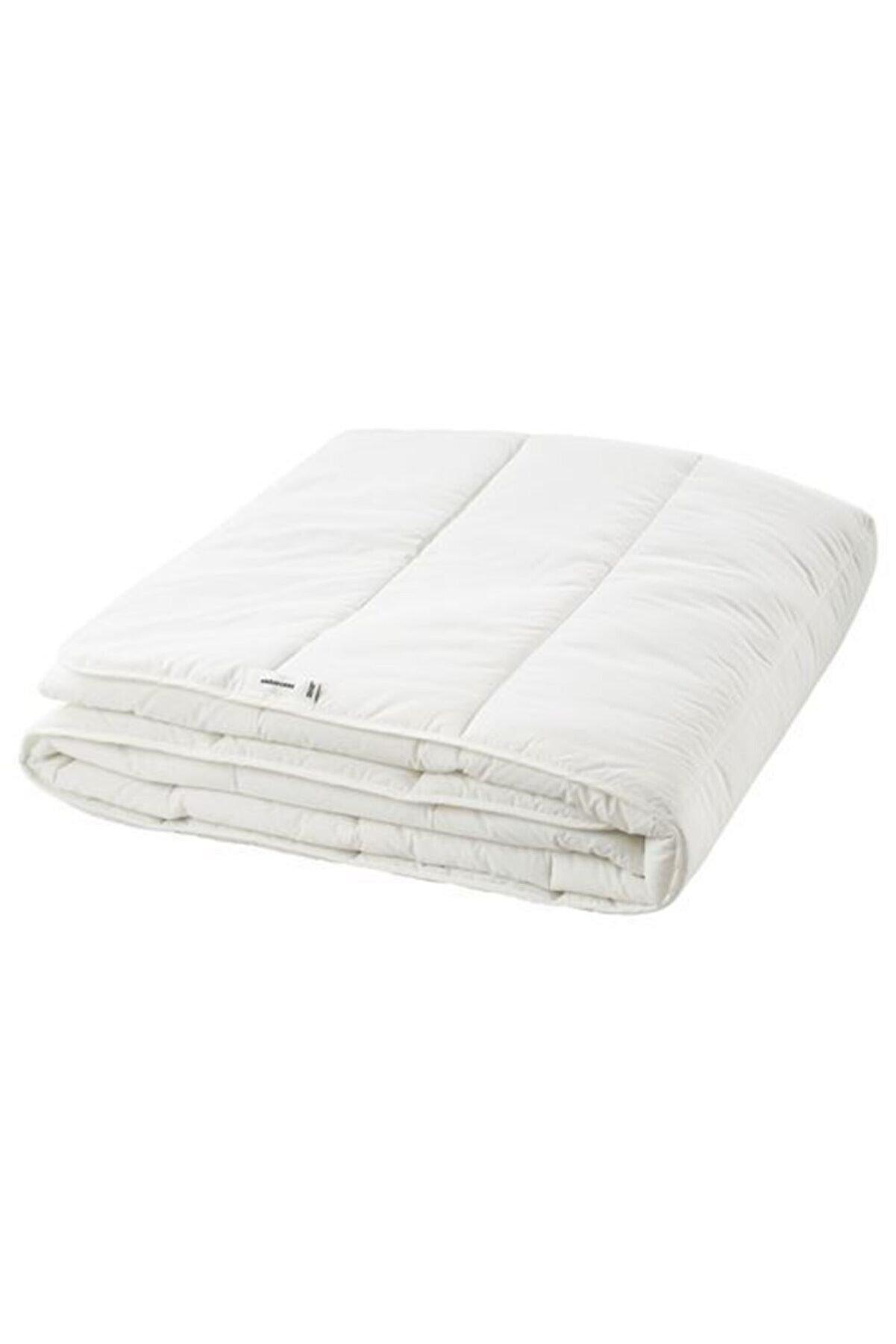 IKEA Çift Kişilik Yazlık Yorgan, Beyaz Renk 240x220 Cm Meridyendukkan Dolgu Oyuklu Lif