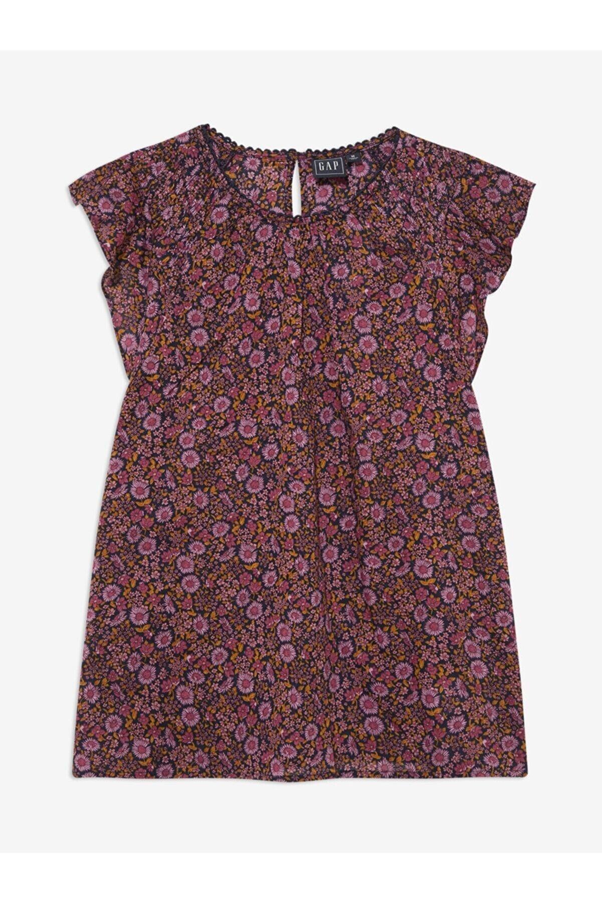 GAP Kadın Pembe Çiçek Desenli Bluz