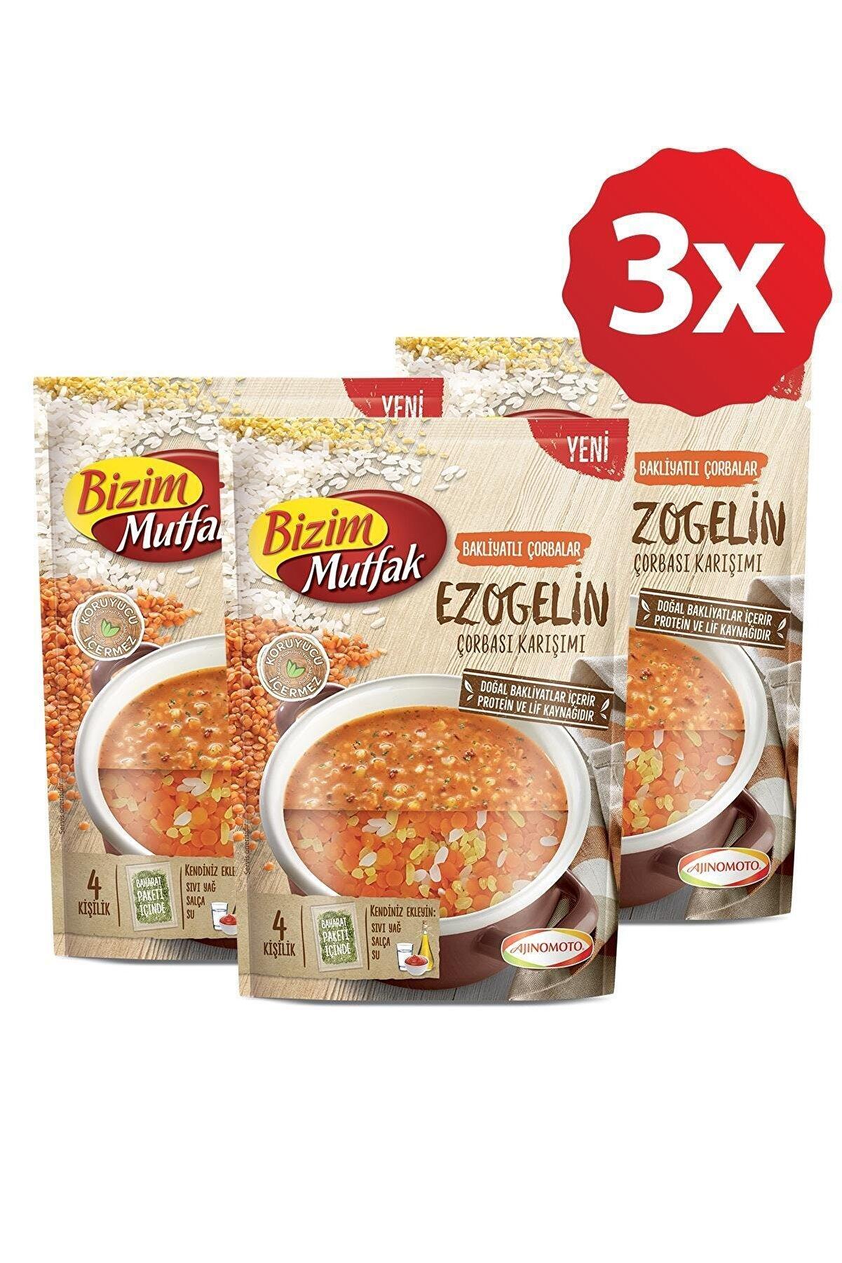 Bizim Mutfak Bakliyatlı Çorbalar Ezogelin Çorbası Karışımı 3 Lü Paket