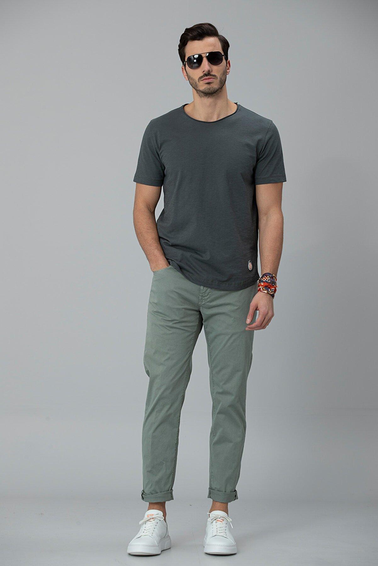 Lufian İmper Spor 5 Cep Pantolon Slim Fit Yeşil