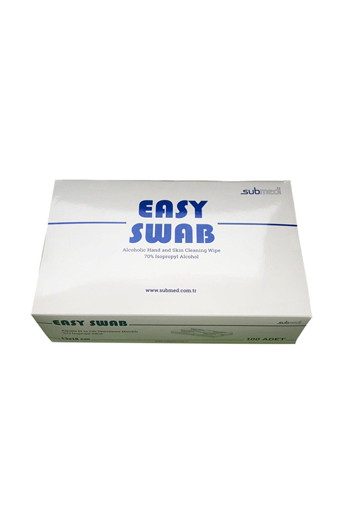 Easy 100 Adet, Alkollü Mendil 13x18 , Daha Buyuk El Temizleme Mendili,