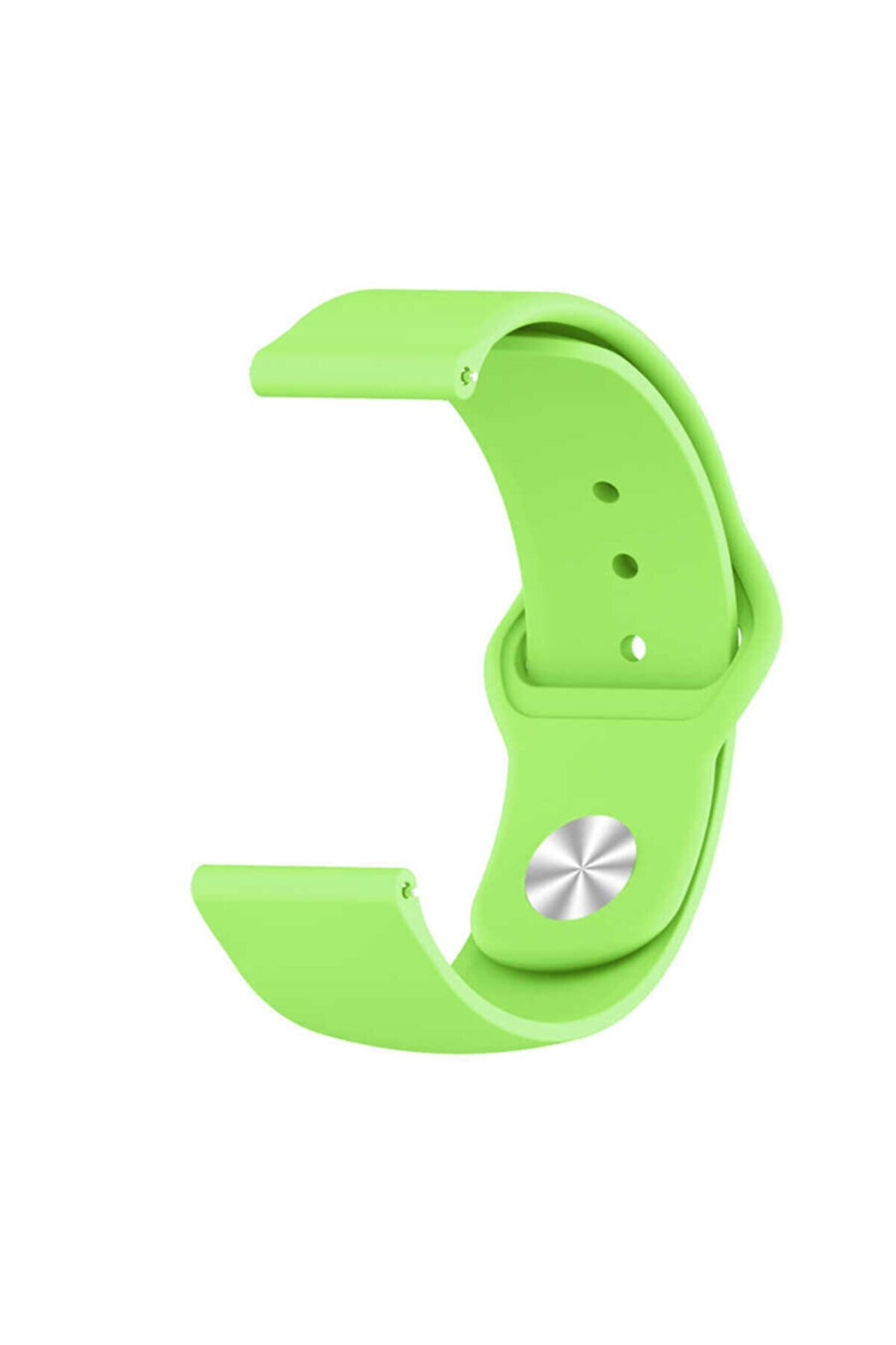 Samsung Galaxy Watch 42mm Klasik Silikon Kordon (sağlam Esnek Dizayn) Yeşil