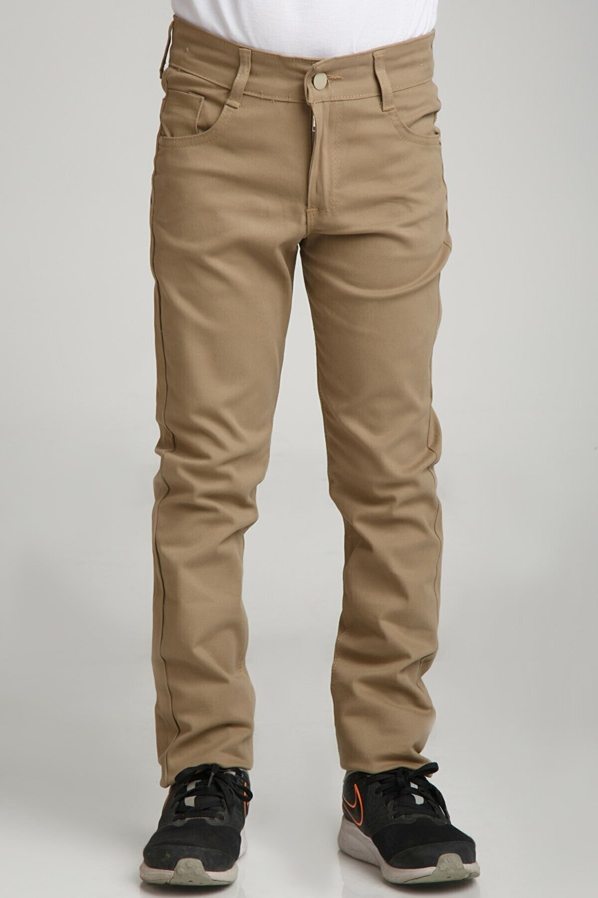 nacar çarşı Unısex Spor Model Camel Canvas Pantolon