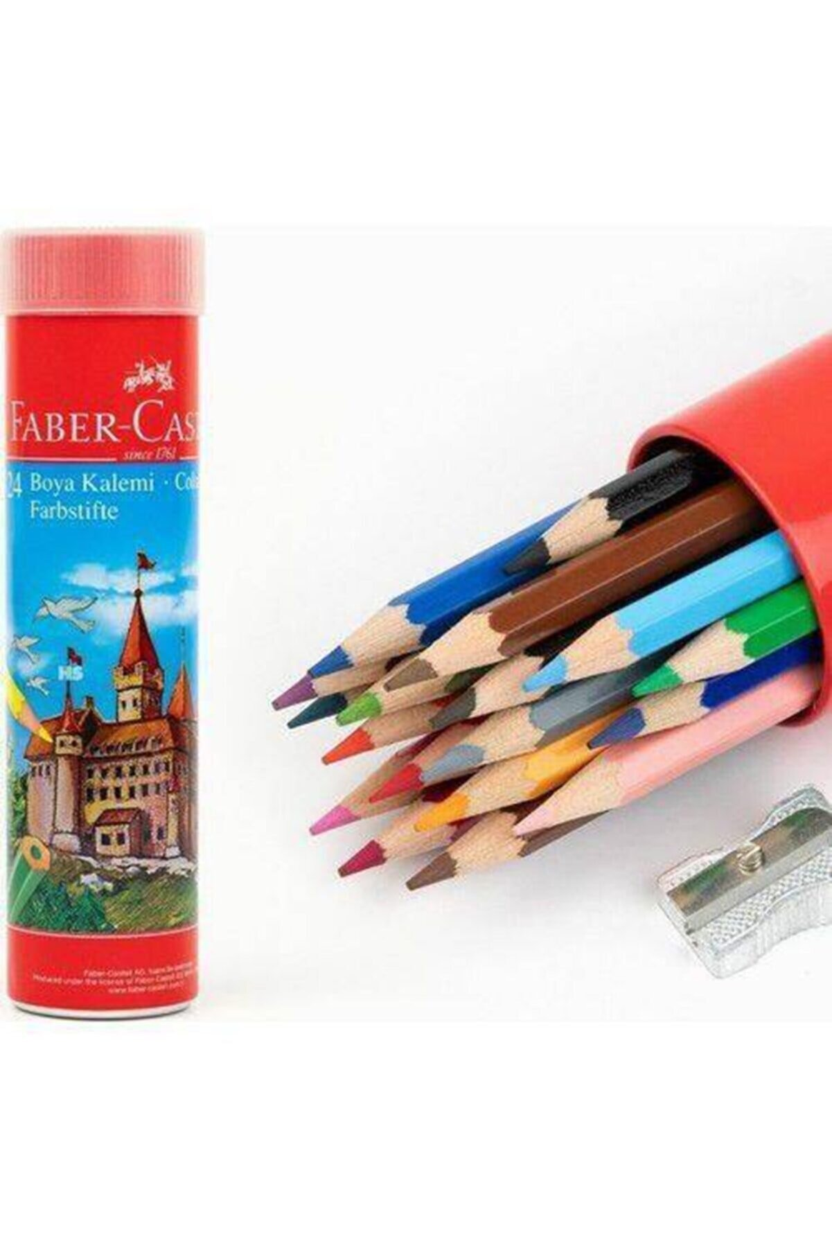 Faber Castell Fabercastell Kuru Boya 24 Renk Metal Tüpte