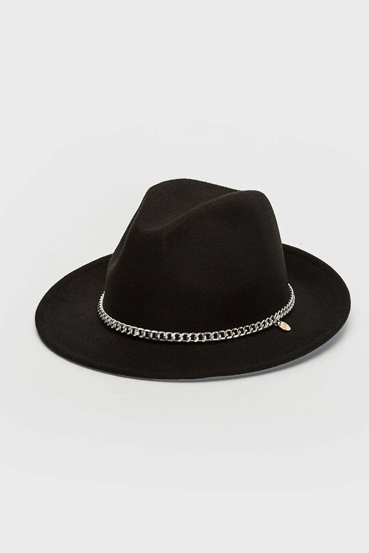 LC Waikiki Kadın Siyah Şapka