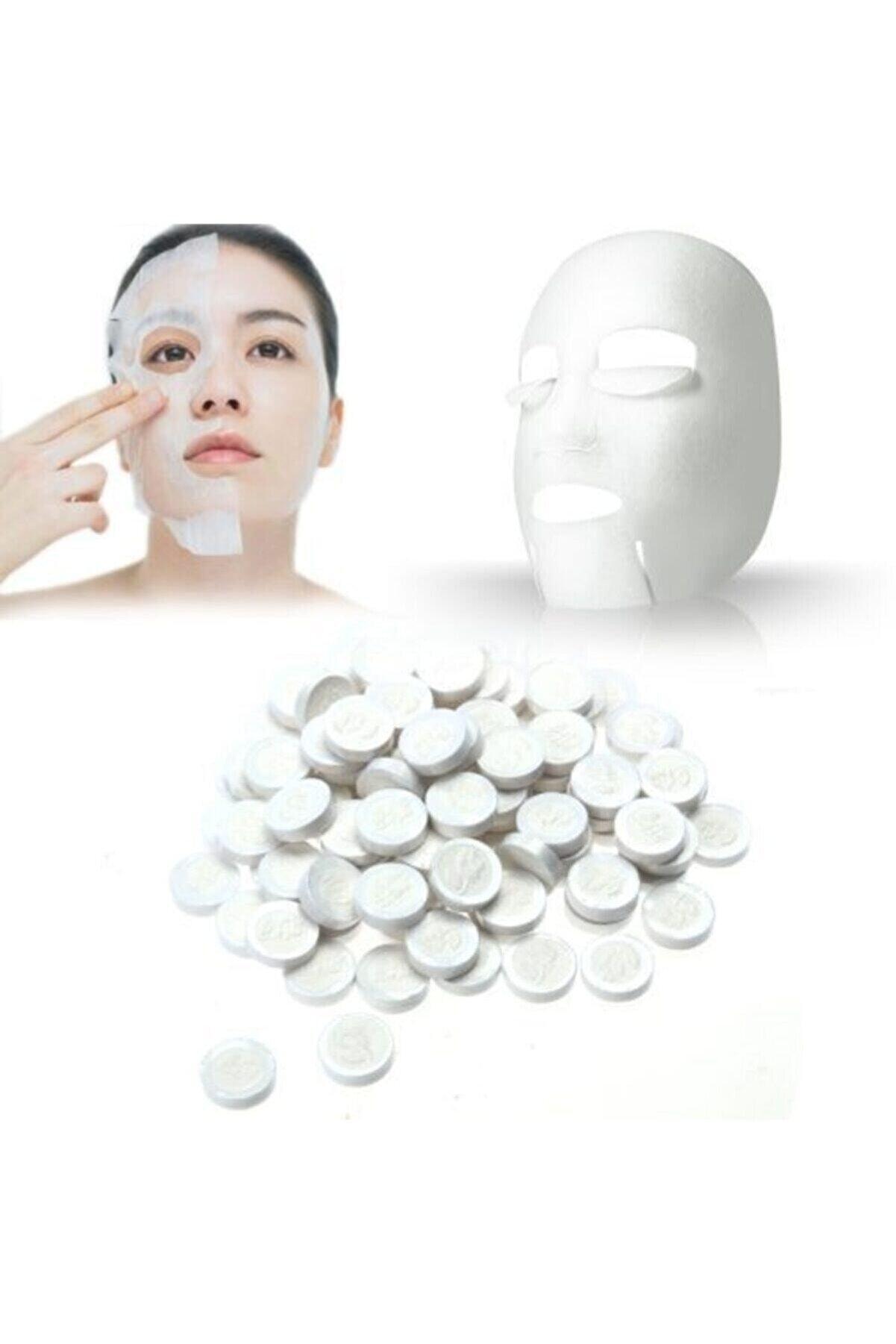 ESRA ŞELEM 50 Adet Sıkıştırılmış Kağıt Yüz Maskesi