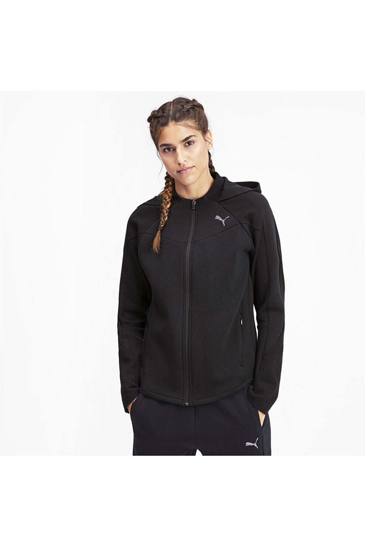 Puma EVOSTRIPE Fermuarlı Kadın Kapüşonlu Sweatshirt