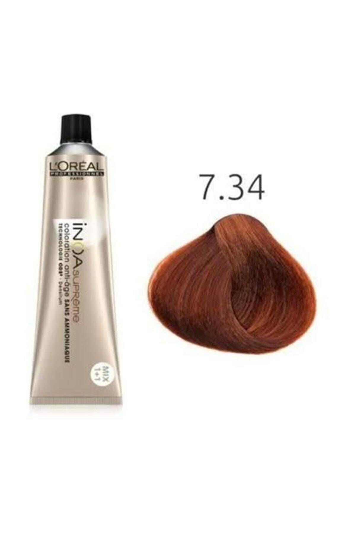 İNOA Supreme 7.34 Kumral Dore Bakır Amonyaksız Saç Boyası 60ml