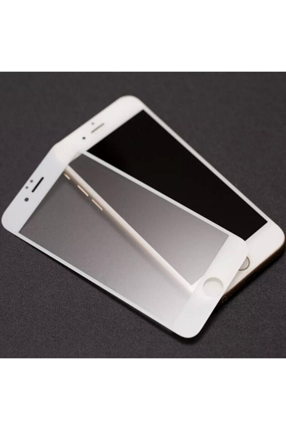 Telehome Iphone 8 Plus Mat Kırılmaz Cam Nano Parmak Izi Bırakmaz Beyaz
