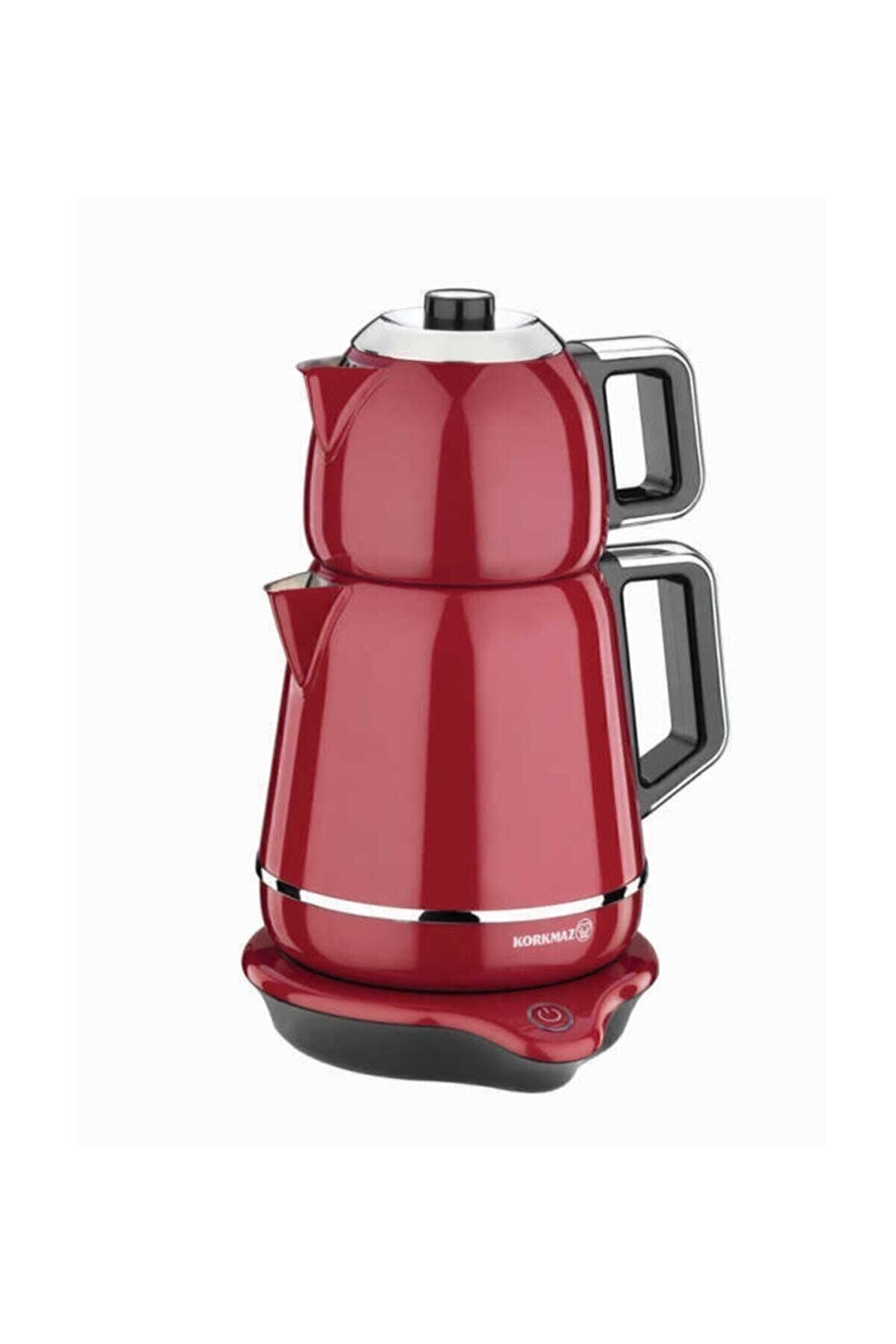 KORKMAZ Demiks Elektrikli Çaydanlık Kırmızı