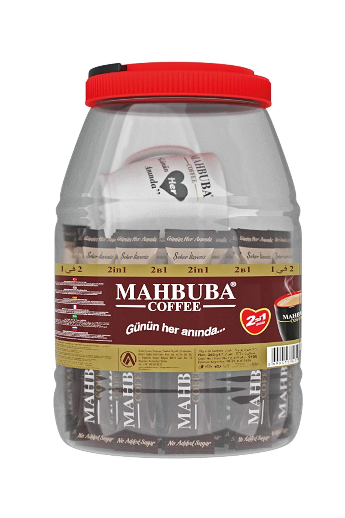ELDEST Mahbuba 2si1 Arada Şekersiz Kavanoz Kahve 36x10gr Renkli Kupa