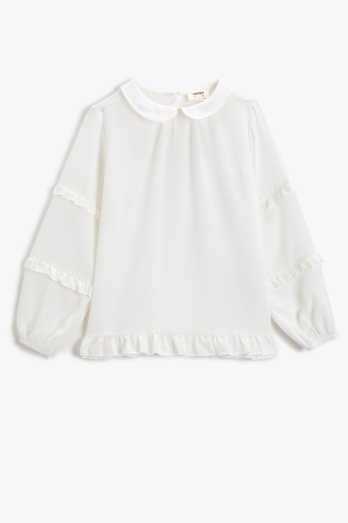 Koton Kız Çocuk Ekru Bluz 2KKG67841AW