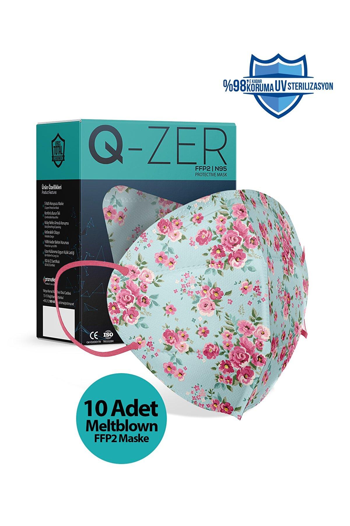 Medizer Qzer Madame Spring Desenli N95 Maske 10 Adet