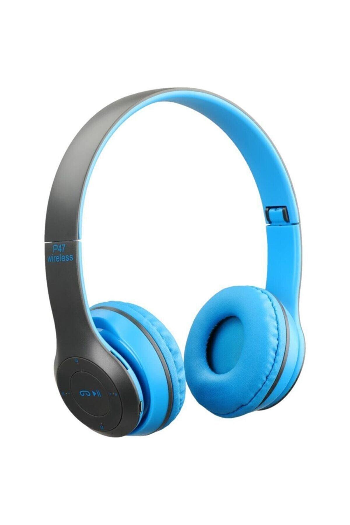 Torima P47 Extra Bass Wireless Bluetooth Kulaklık 5.0+edr Fm Radyo Mavi