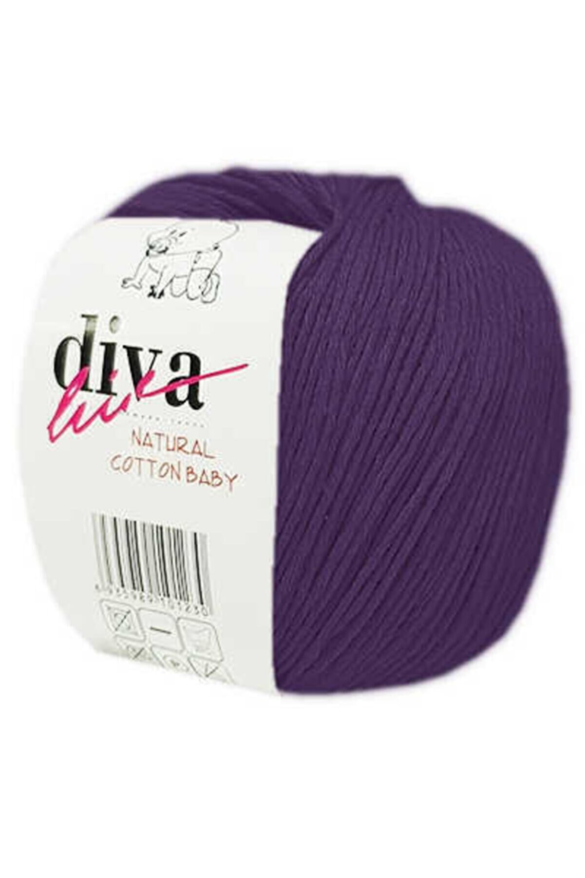 Diva İplik Diva Line Diva Natural Cotton Baby Bebe Ipi 188 Mor