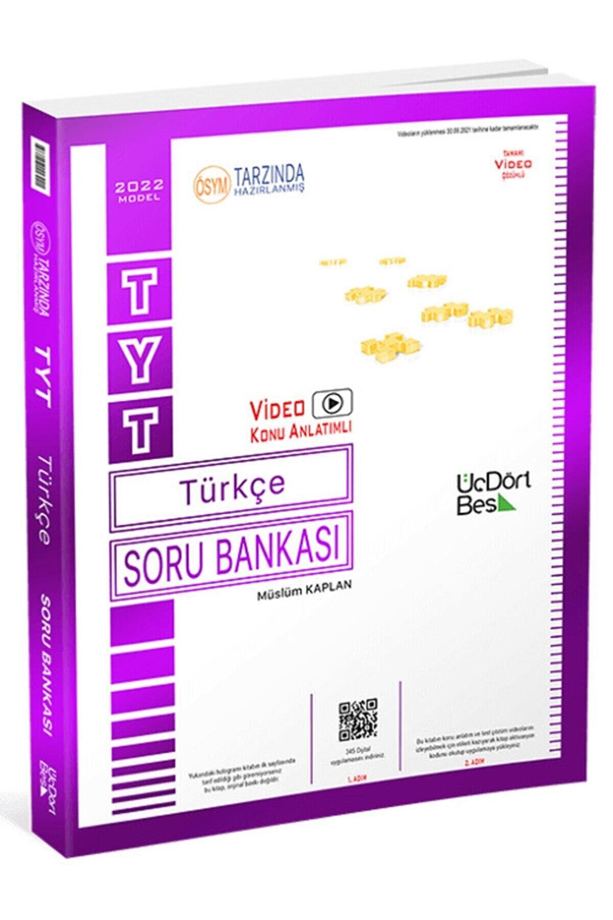 Üç Dört Beş Yayıncılık 2022 Tyt Türkçe Soru Bankası Model Üç Dört Beş Yayınları