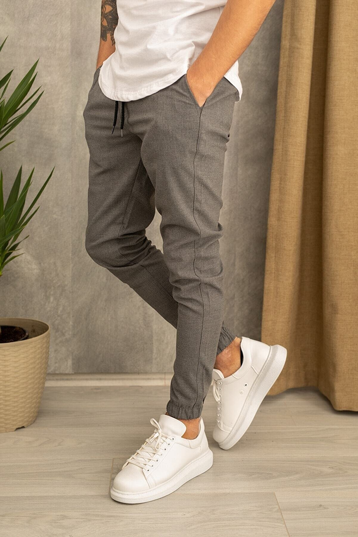 wamoss Erkek Gri Jogger Pantolon
