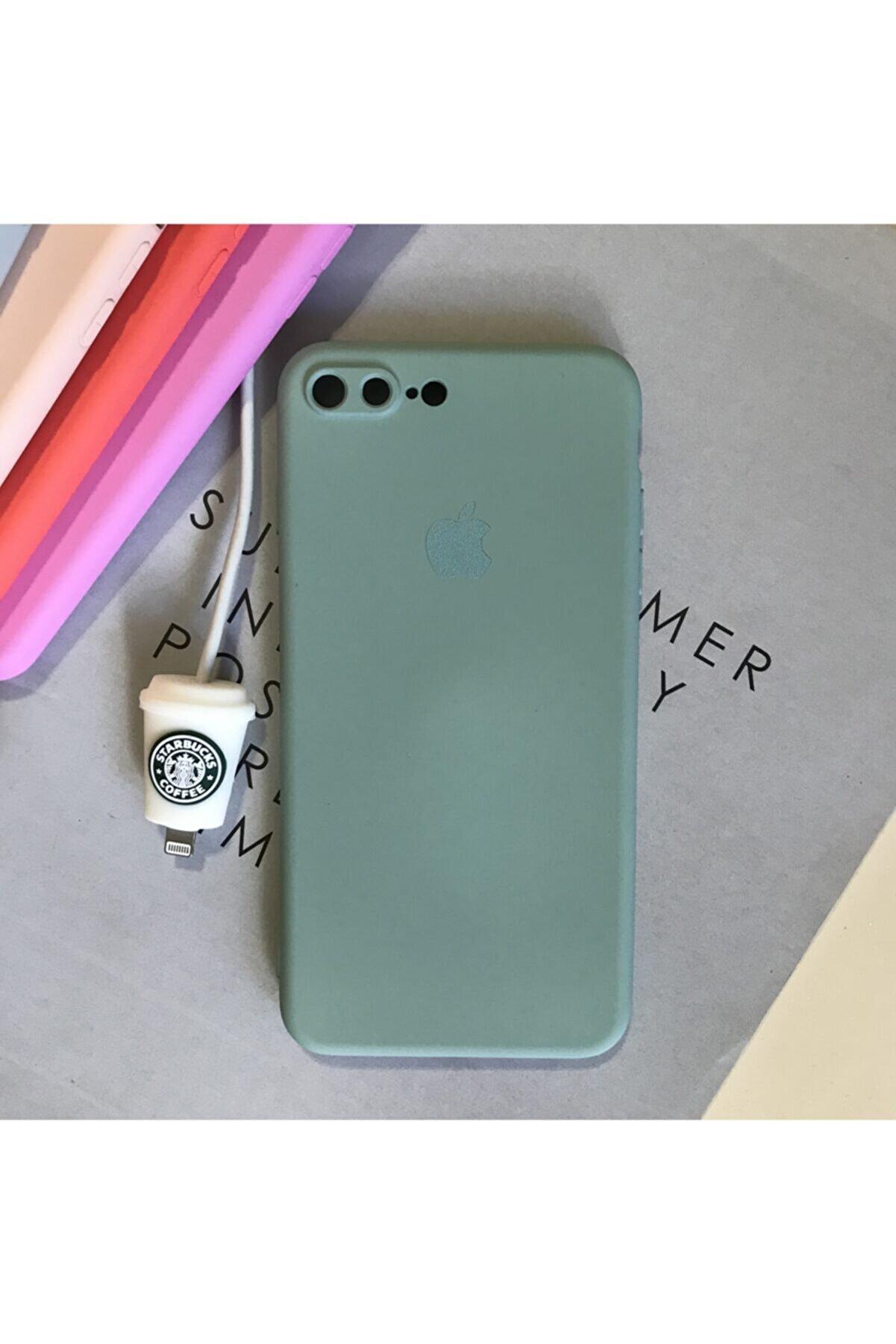 SUPPO Iphone 7 Plus Ve 8 Plus Modellere Uyumlu, Logolu Lansman Kılıf Ve Kablo Koruyucu (new Color)