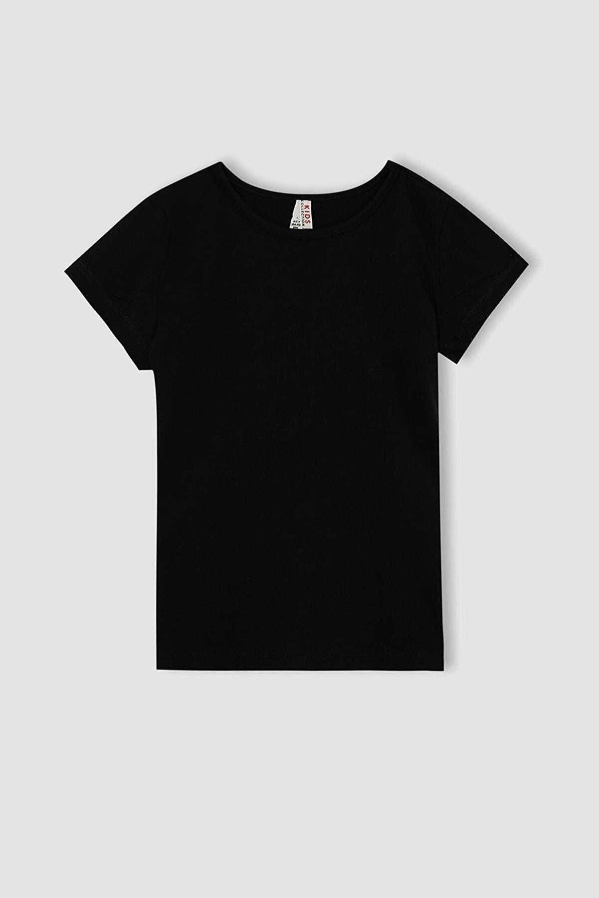 Defacto Kız Çocuk Basic Kısa Kollu Tişört