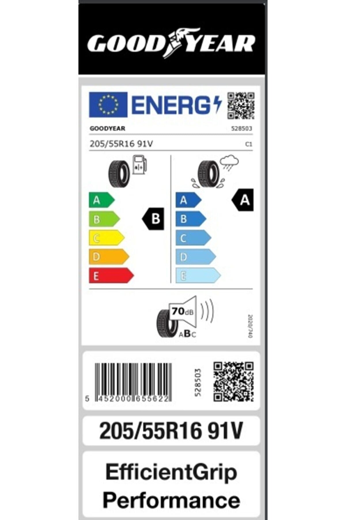 Goodyear 205/55r16 (91v) Efficientgrip Performance - Üretim 2021