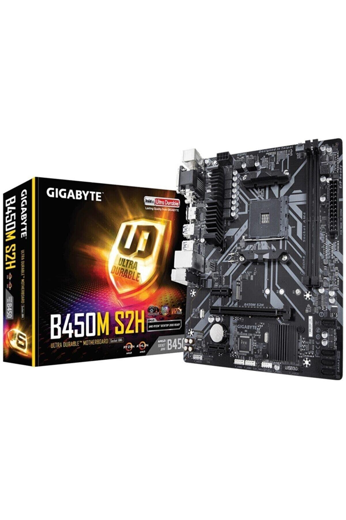 Gigabyte Gıgabyte B450m-s2h Ddr4 M2 Pcıe Nvme Hdmı Dvı Pcıe 16x V3.0 Am4 Matx