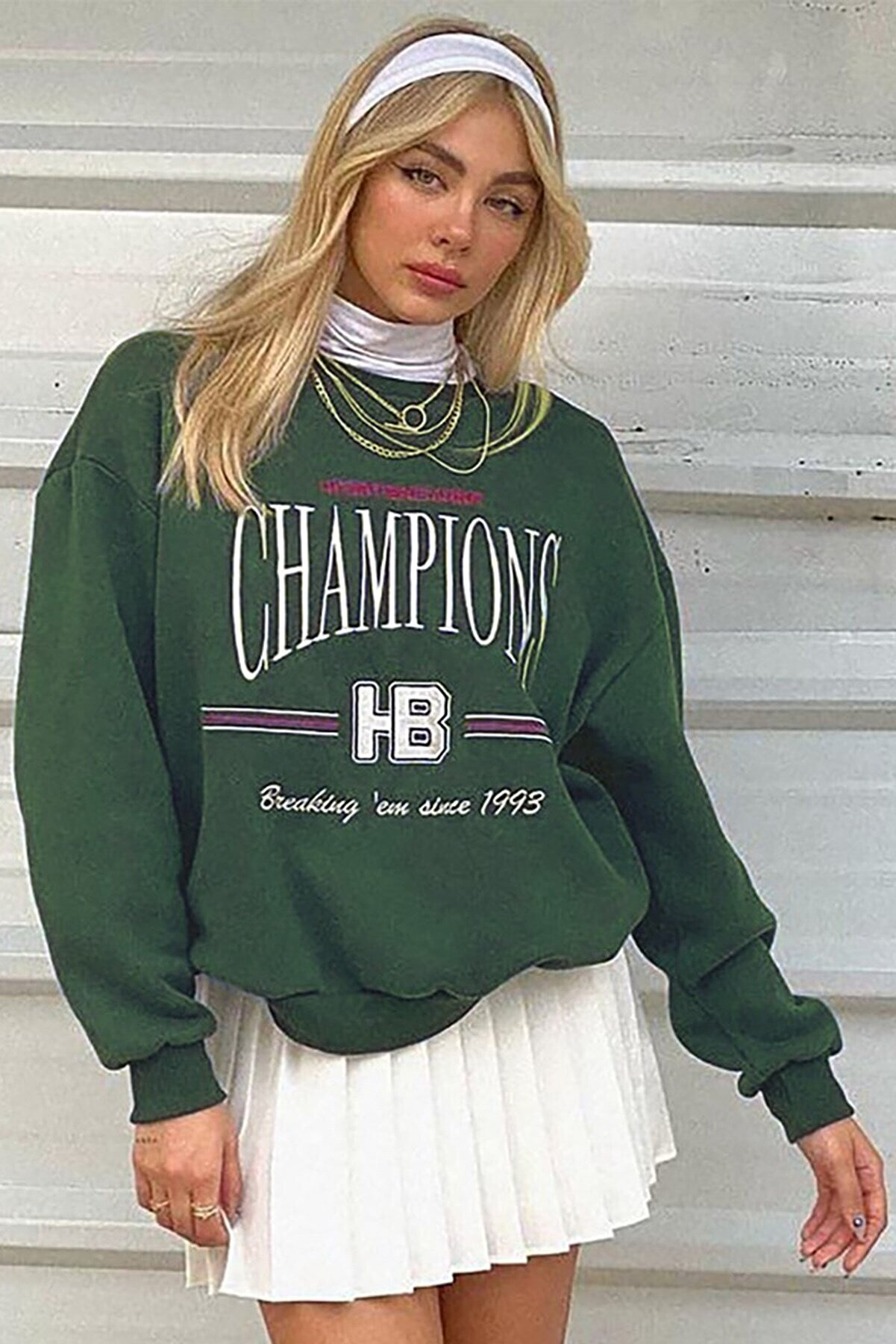 Madmext Mad Girls Haki Kadın Sweatshirt Mg930