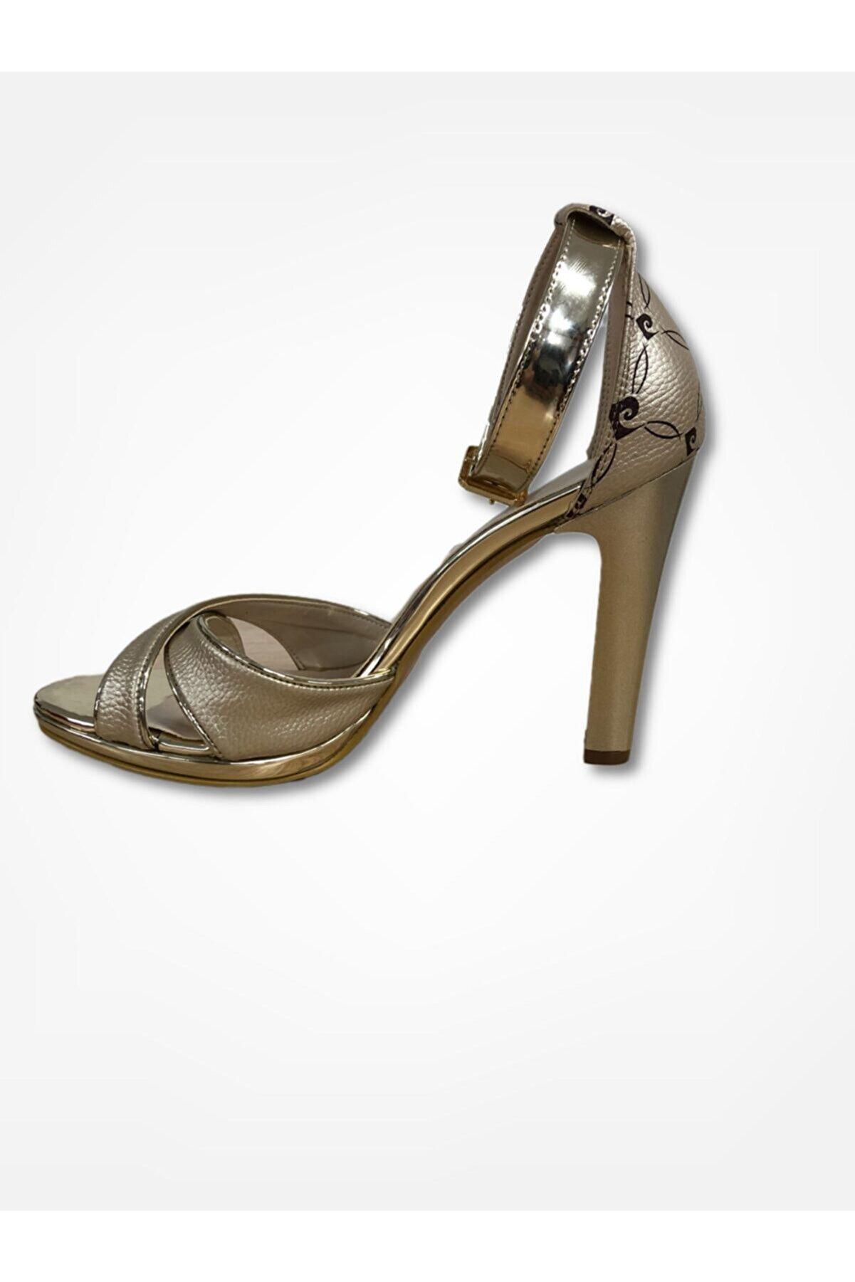 Pierre Cardin Kadın Altın Klasik Topuklu Ayakkabı 91036