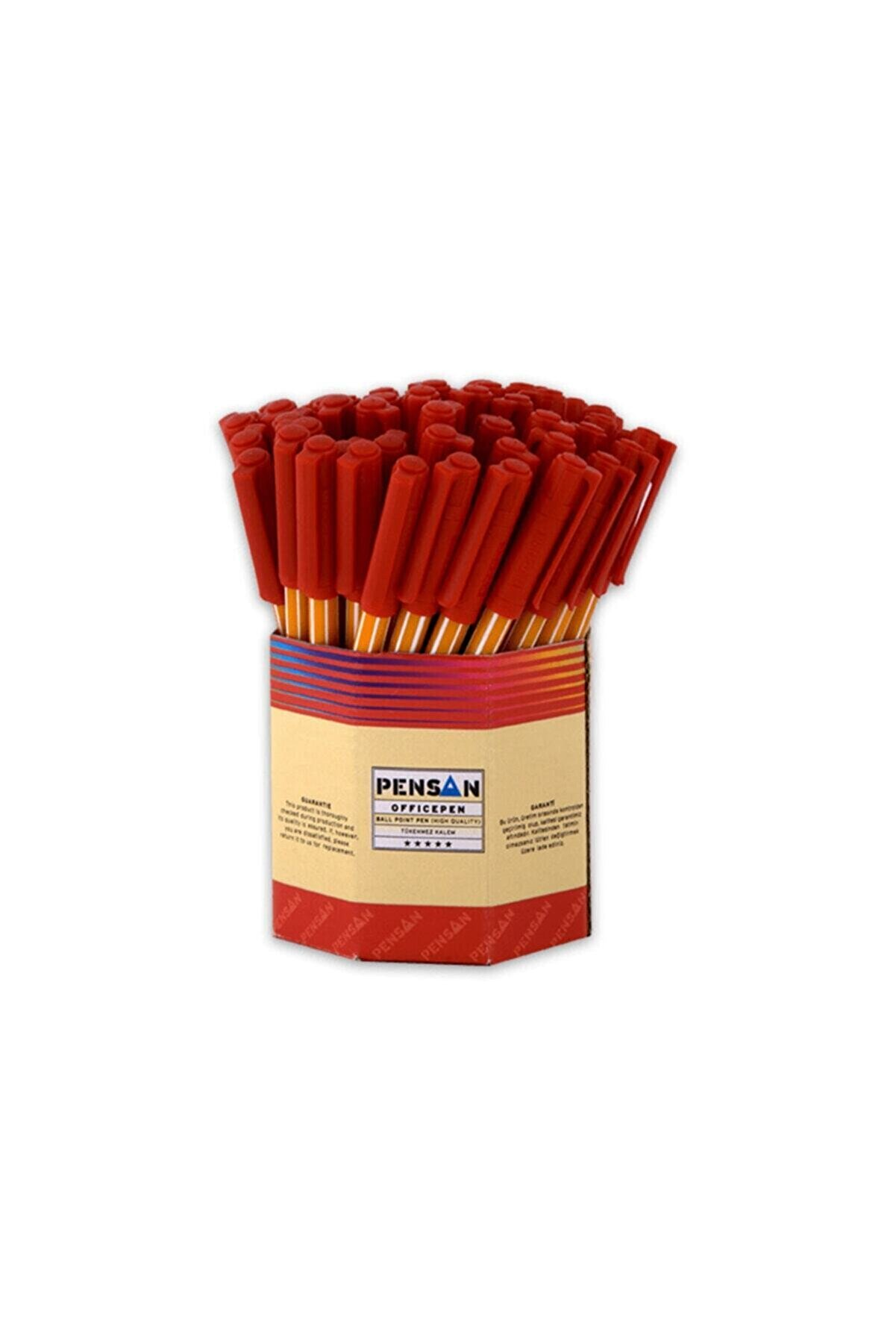 Pensan Ofispen Tükenmez Kalem Kırmızı 60lı