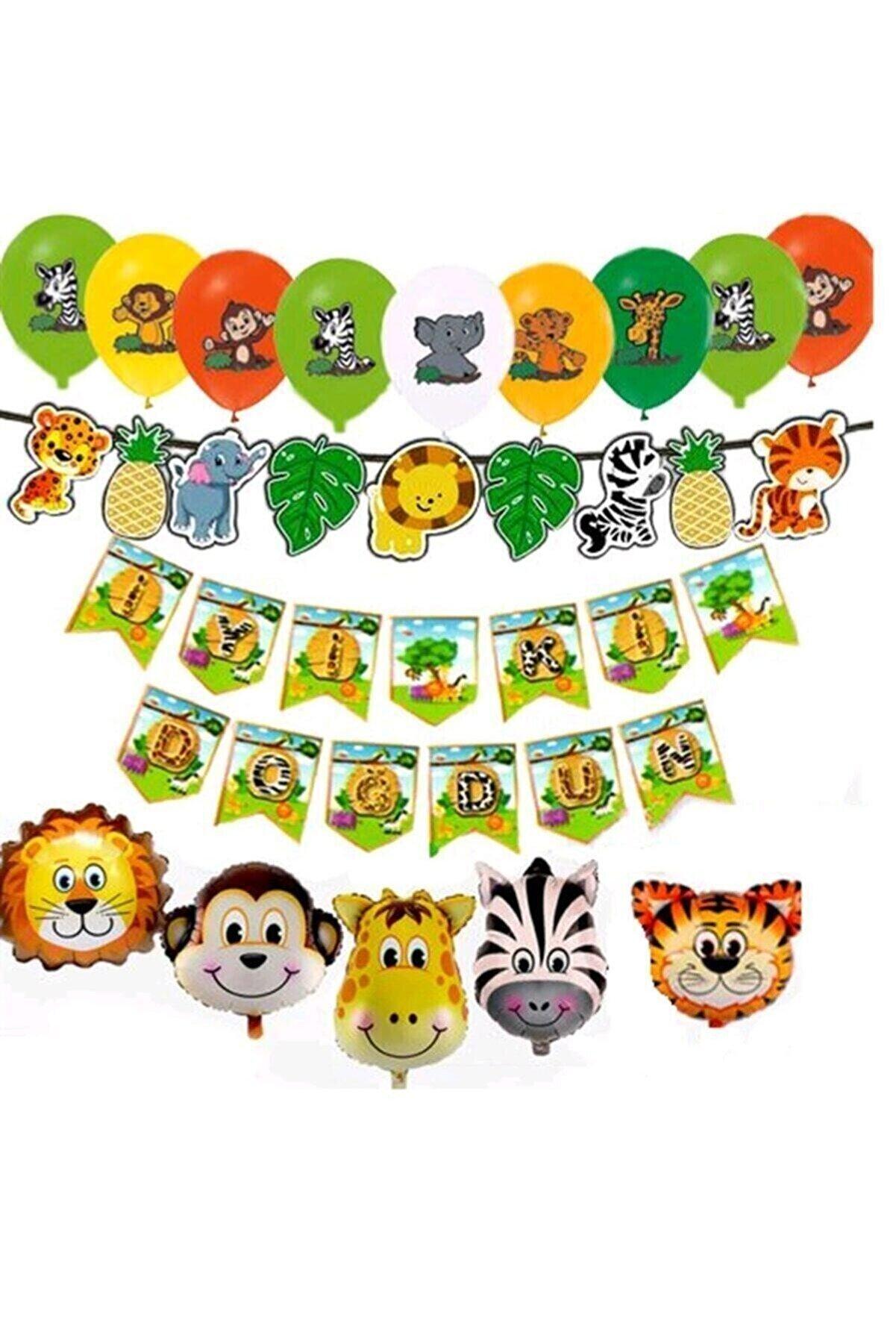 Safari Doğum Günü Süsleri Seti