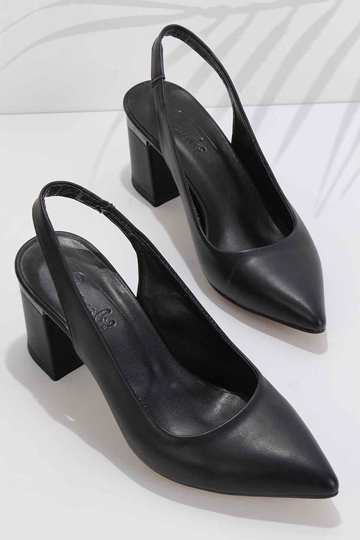 Bambi Siyah Kadın Abiye Ayakkabı K01674090309