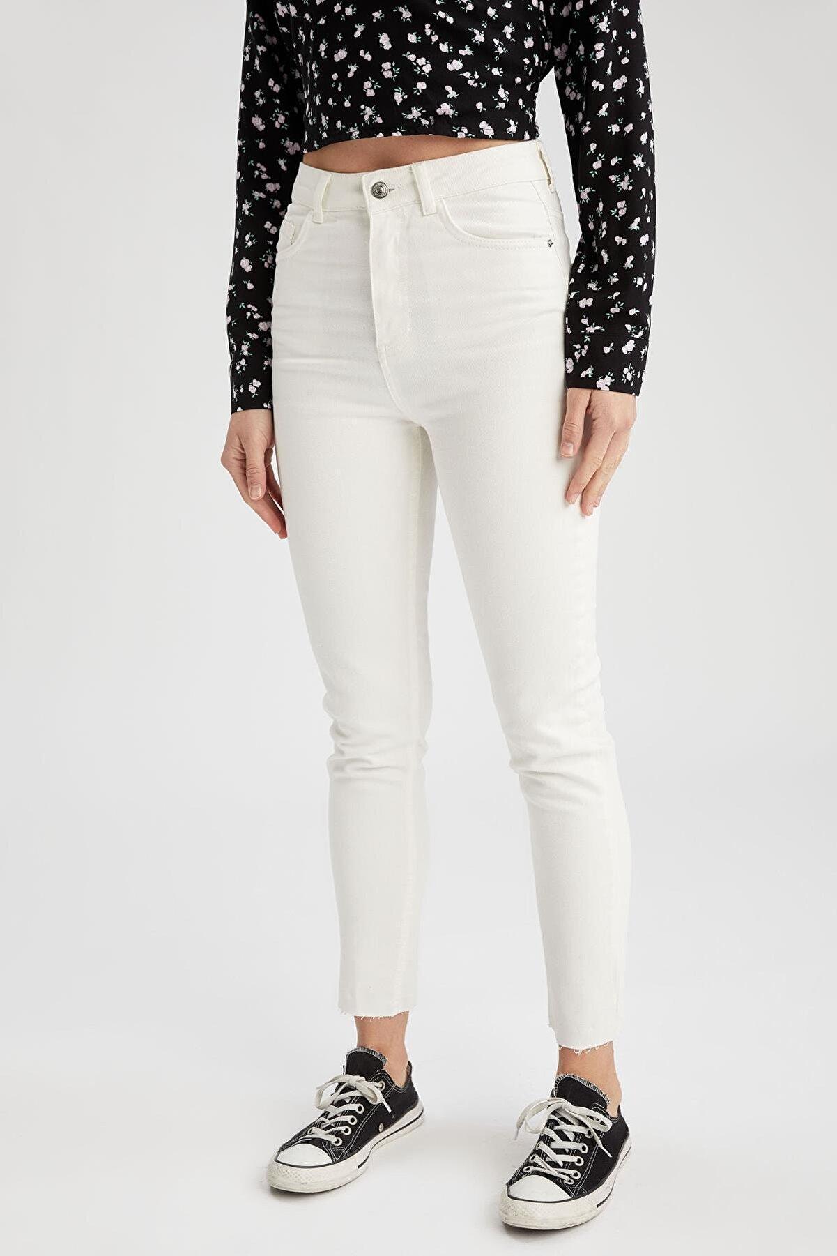 Defacto Vintage Skinny Fit Yüksek Bel Jean Pantolon