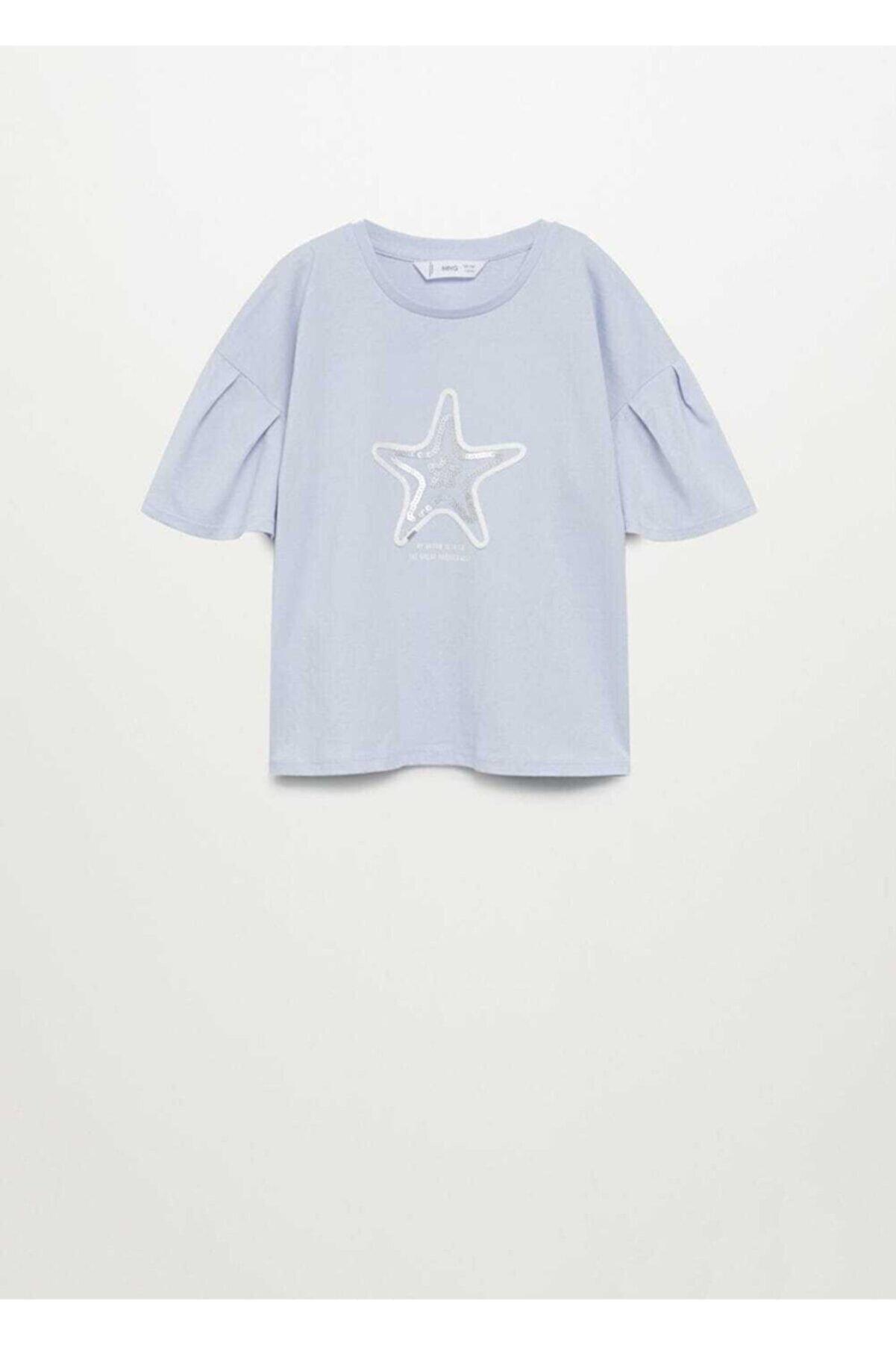 Mango Organik Pamuklu Pullu Tişört
