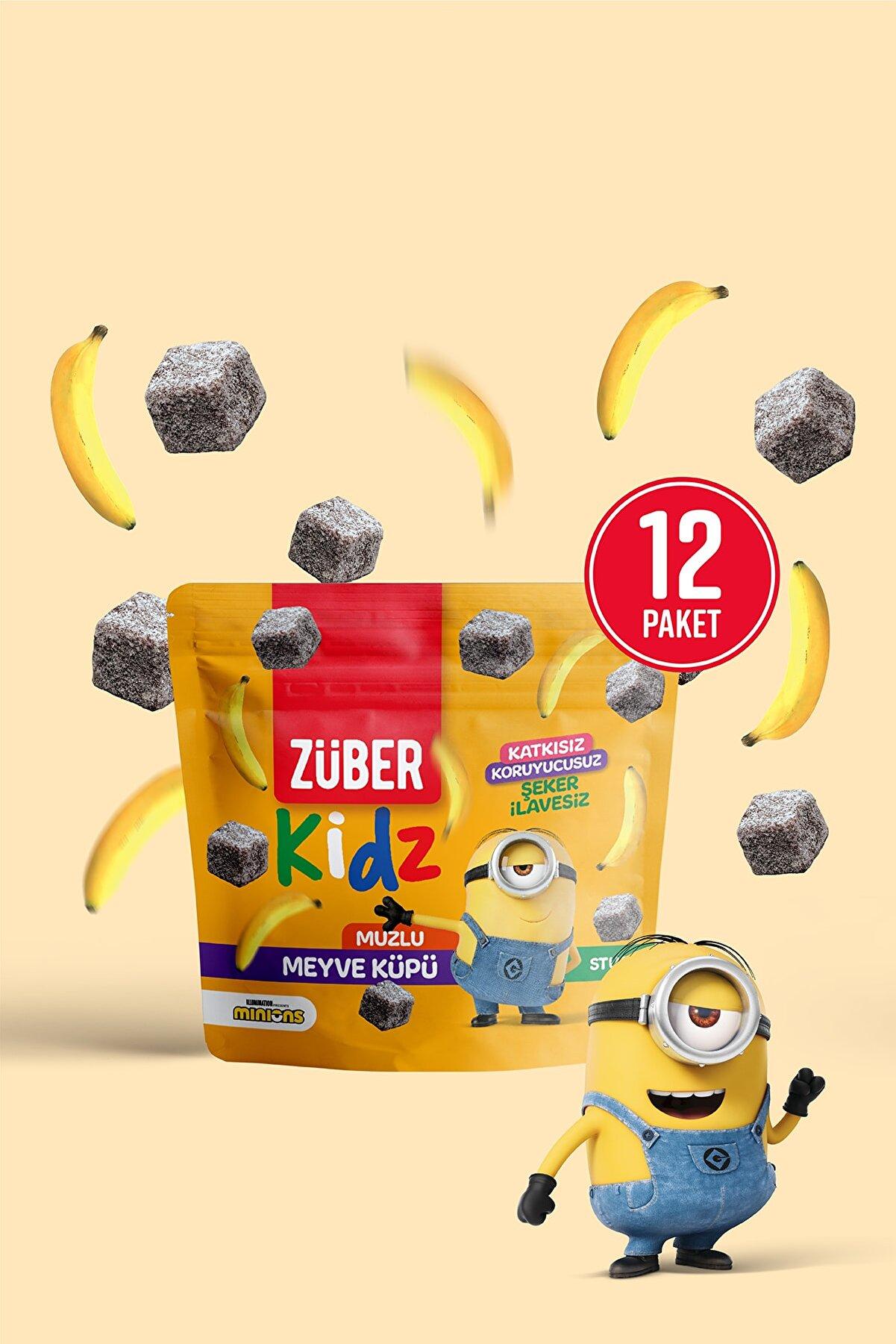 Züber Kidz Meyve Küpü Muzlu - 12 Adet X 49 gr