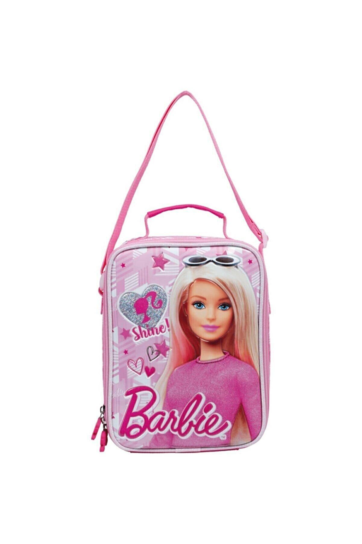 Barbie Lisanslı Kız Çocuk Pembe Lüx Beslenme Çantası