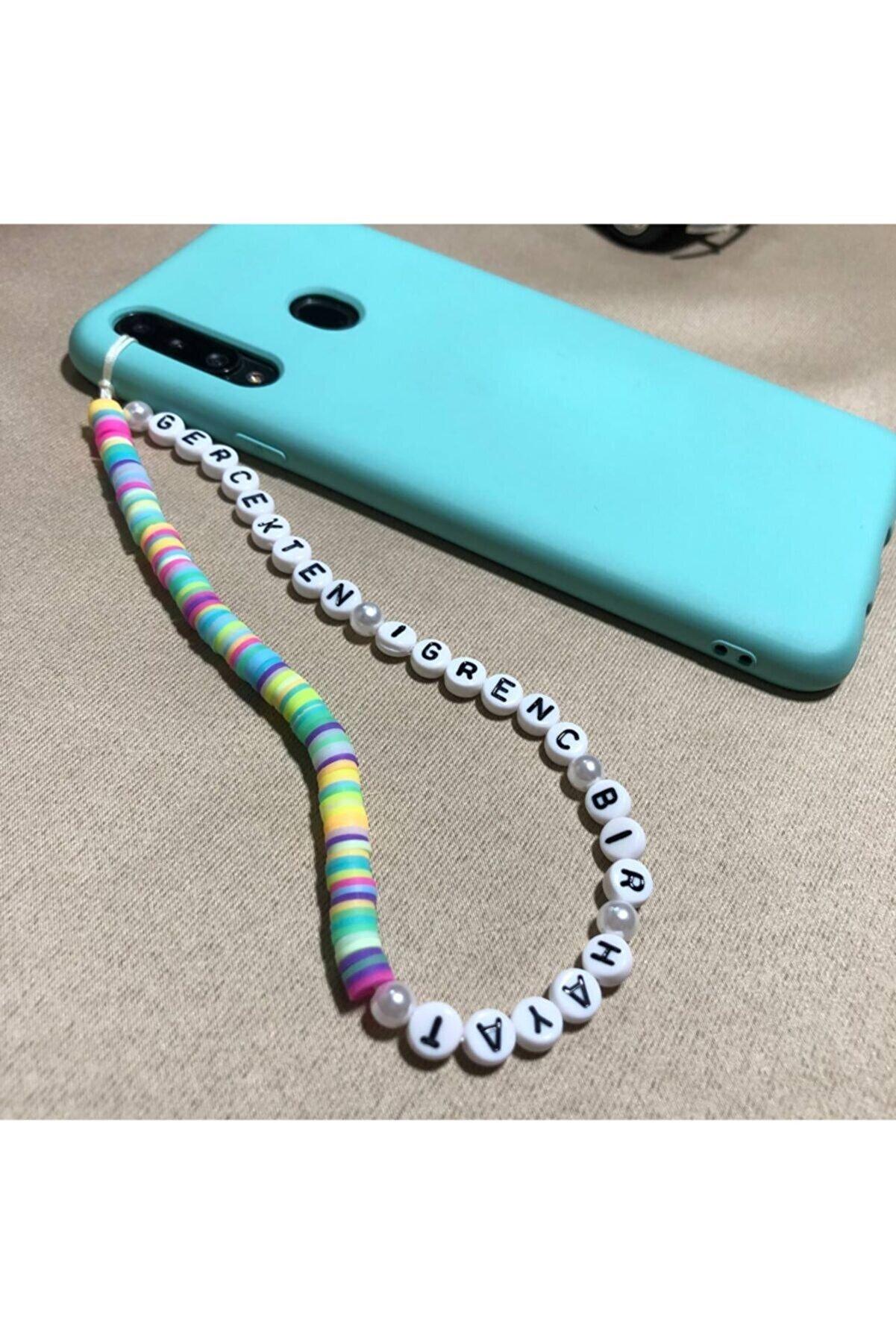 RedNar Gerçekten Iğrenç Bir Hayat Yazılı Fimo Telefon Askısı / Telefon Charmı