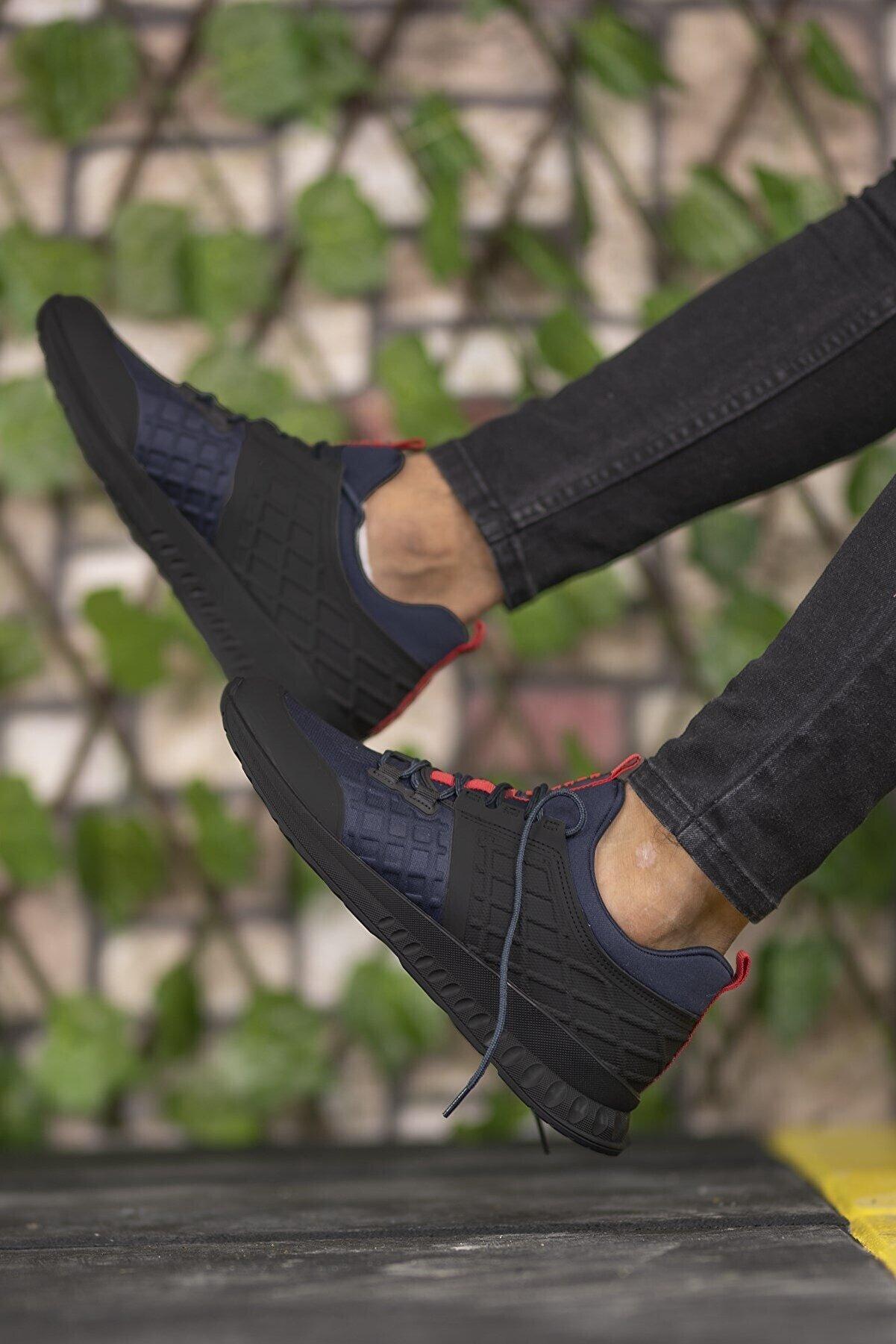 Riccon Lacivert Kırmızı Unisex Sneaker 00121975
